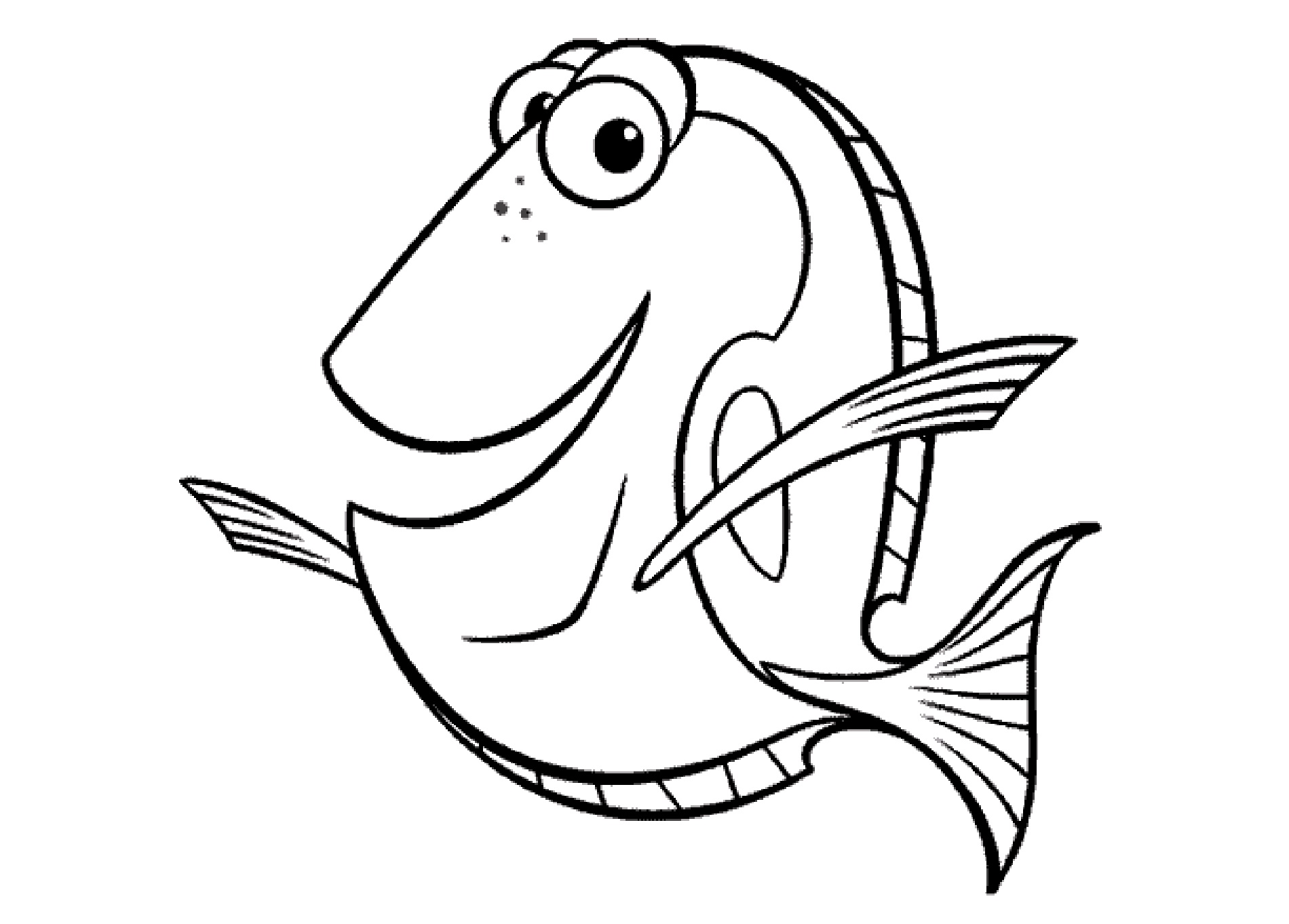 Dory Coloring Pages For Kids