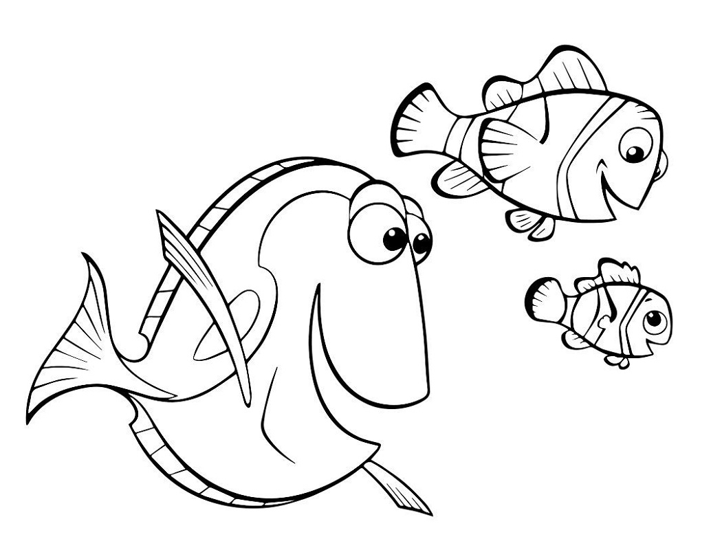 Dory Coloring Pages With Martin And Nemo