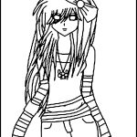 Emo Coloring Pages Free