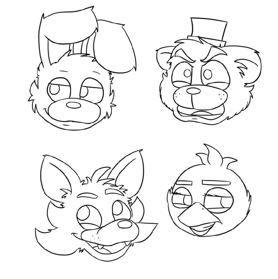 Five Nights At Freddy_s Coloring Pages Characters