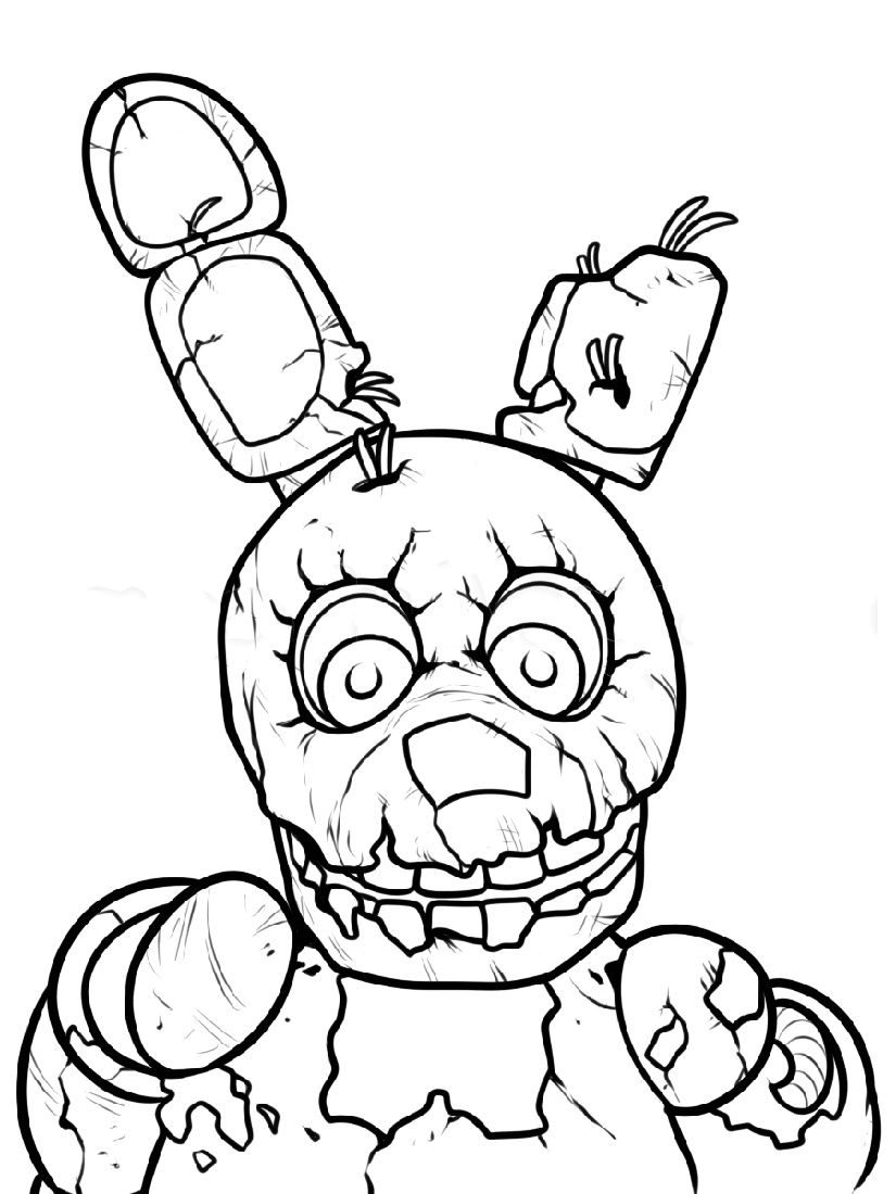 Five Nights At Freddy_s Coloring Pages Fnaf