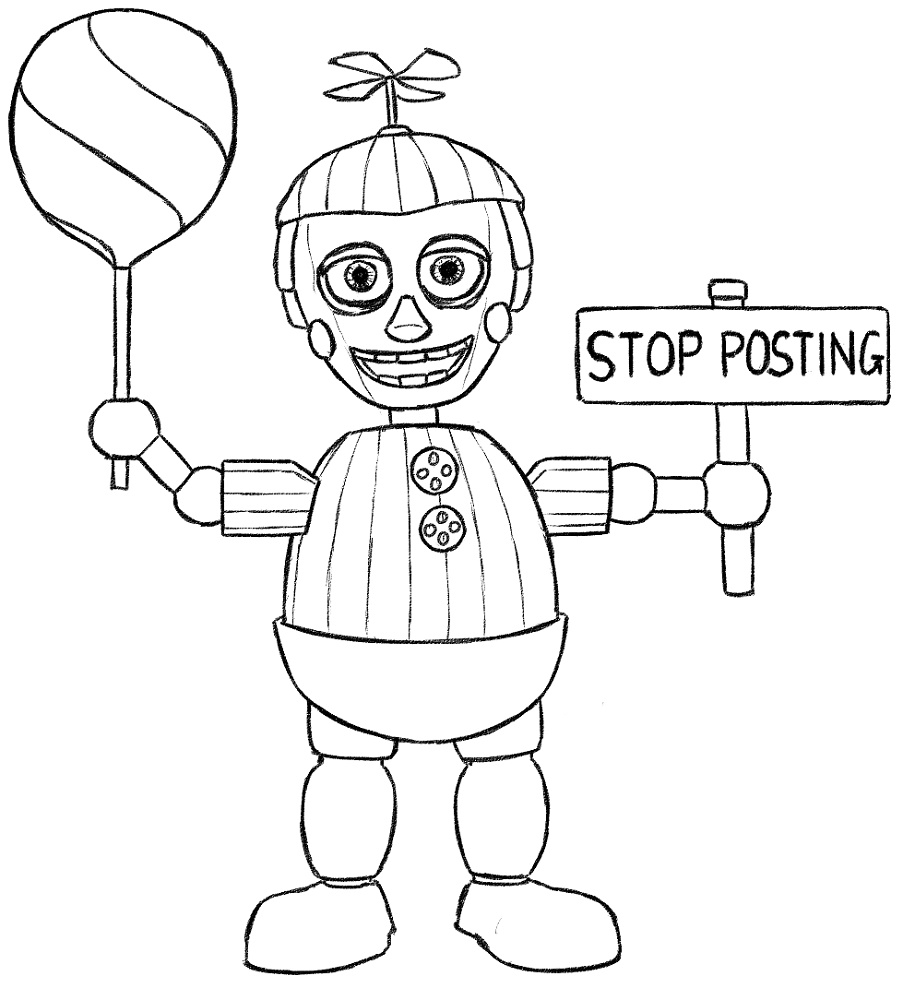 Five Nights At Freddy_s Coloring Pages Printable