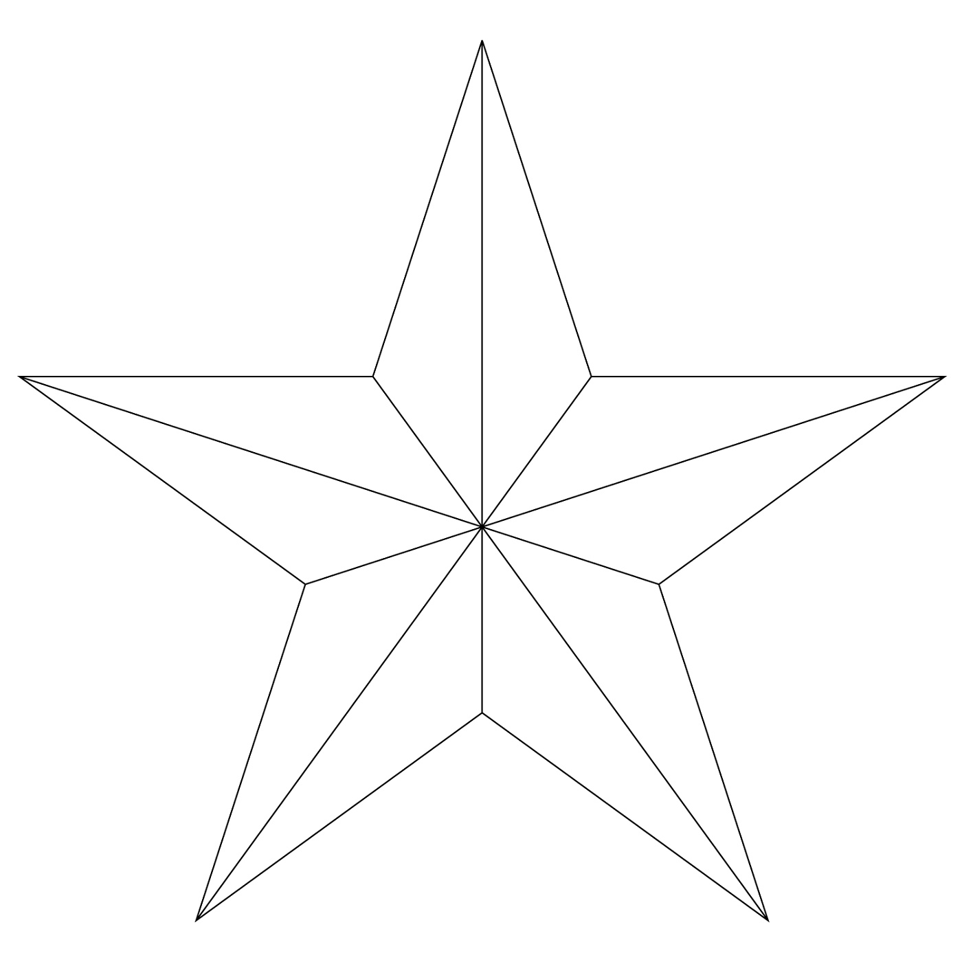 Five Point Star Coloring