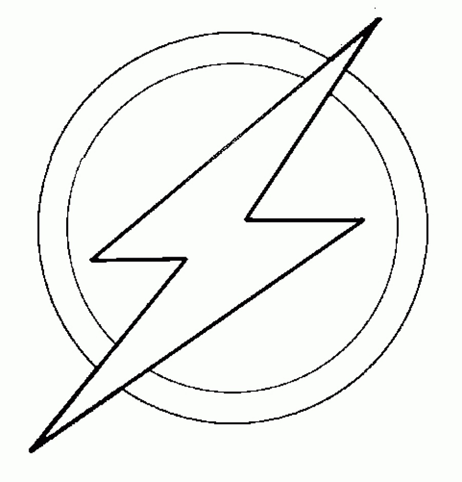 Flash Coloring Pages Logo
