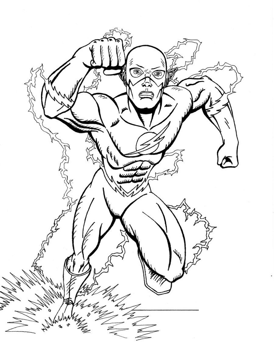 Flash Coloring Pages Super Hero