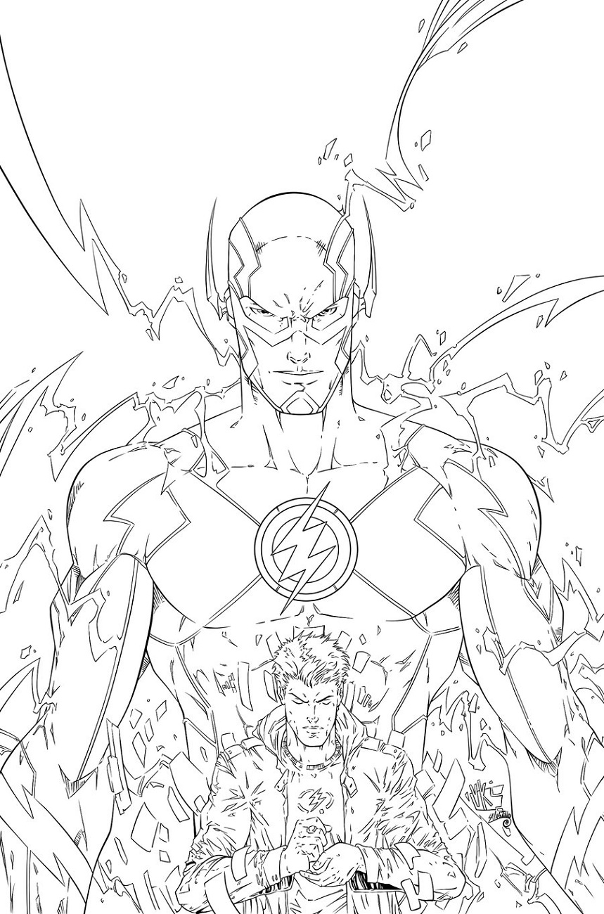 Flash Coloring Pages To Print