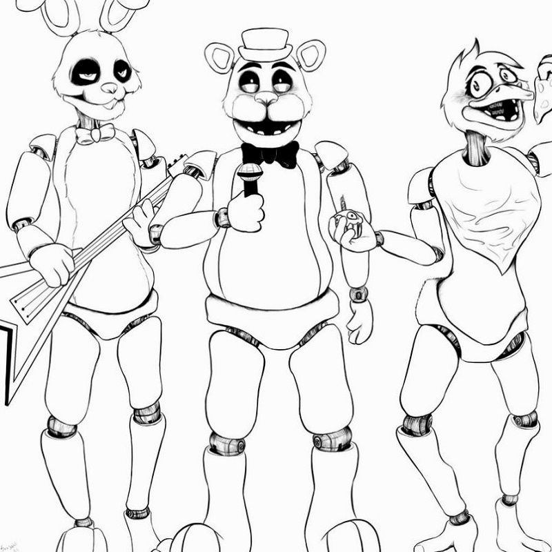 Fnaf Coloring Pages Free