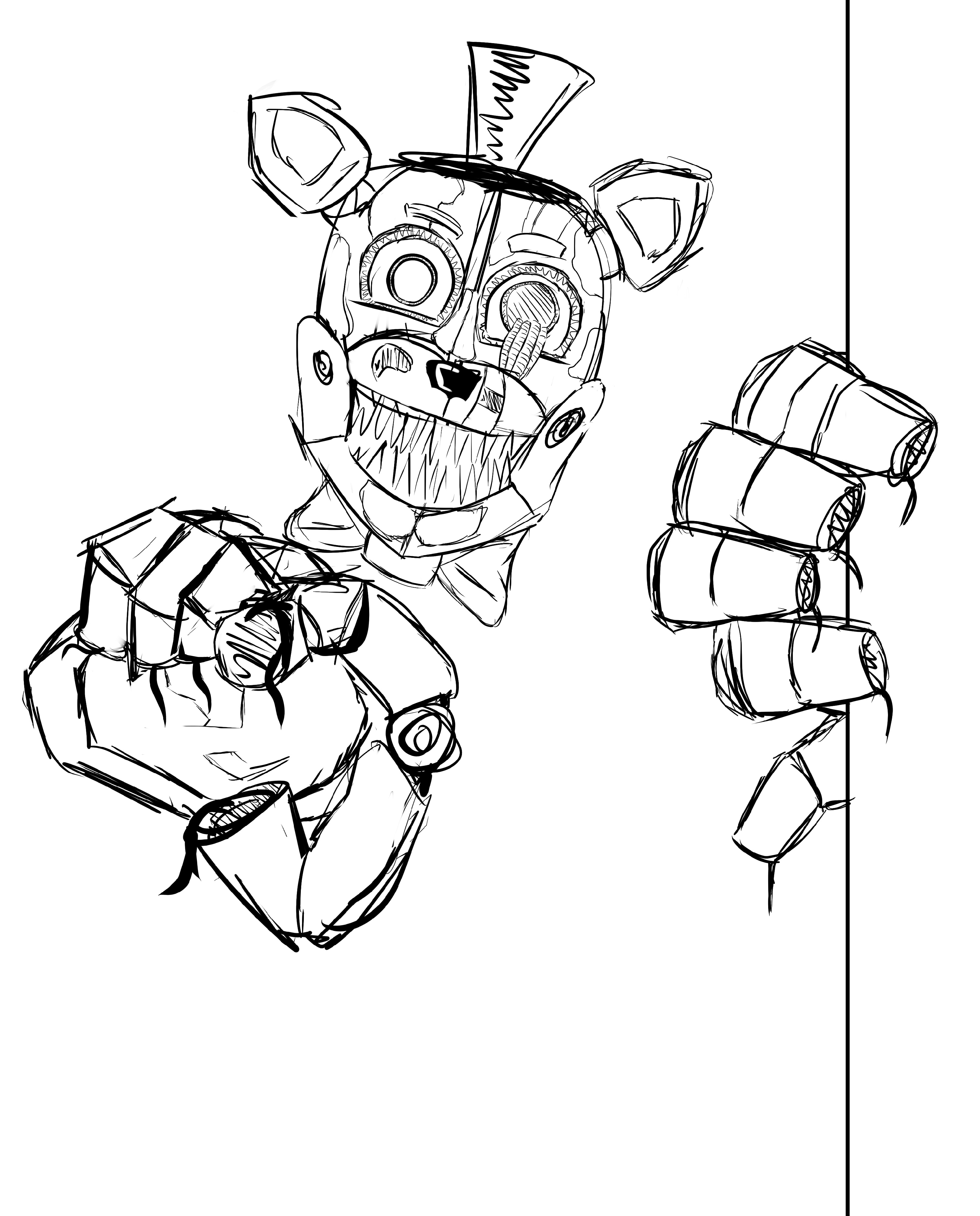 Fnaf Coloring Pages Pictures