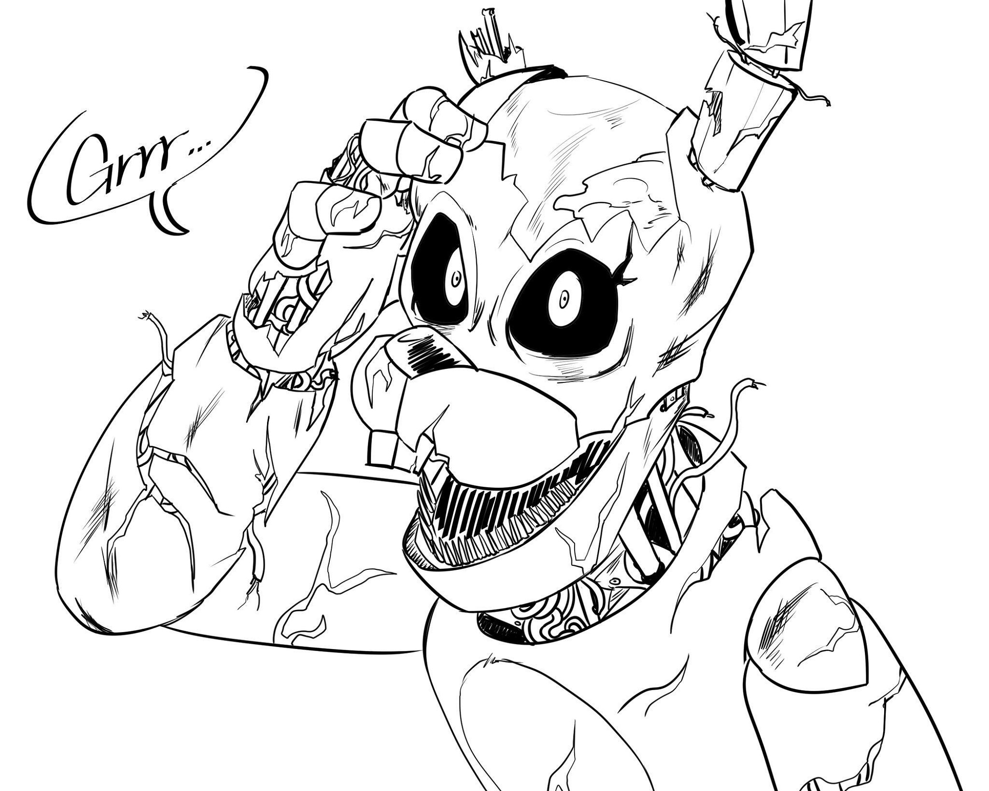 Fnaf Coloring Pages Printable