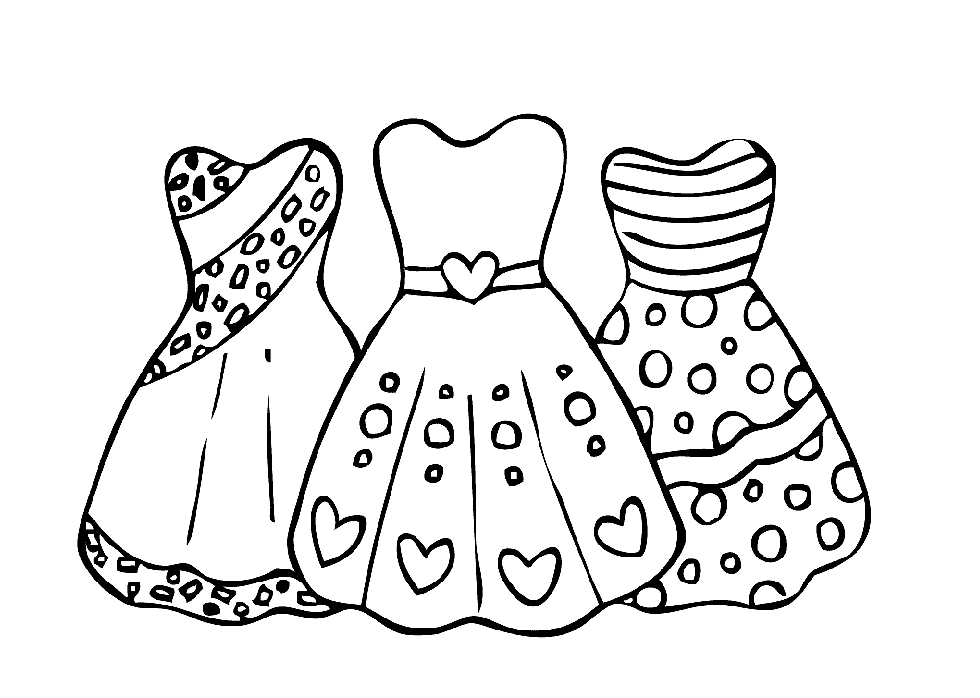 Girls Coloring Dress