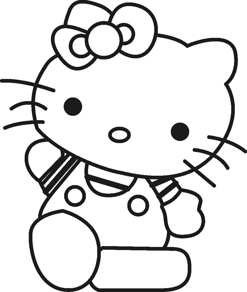 Girls Coloring Hello Kitty