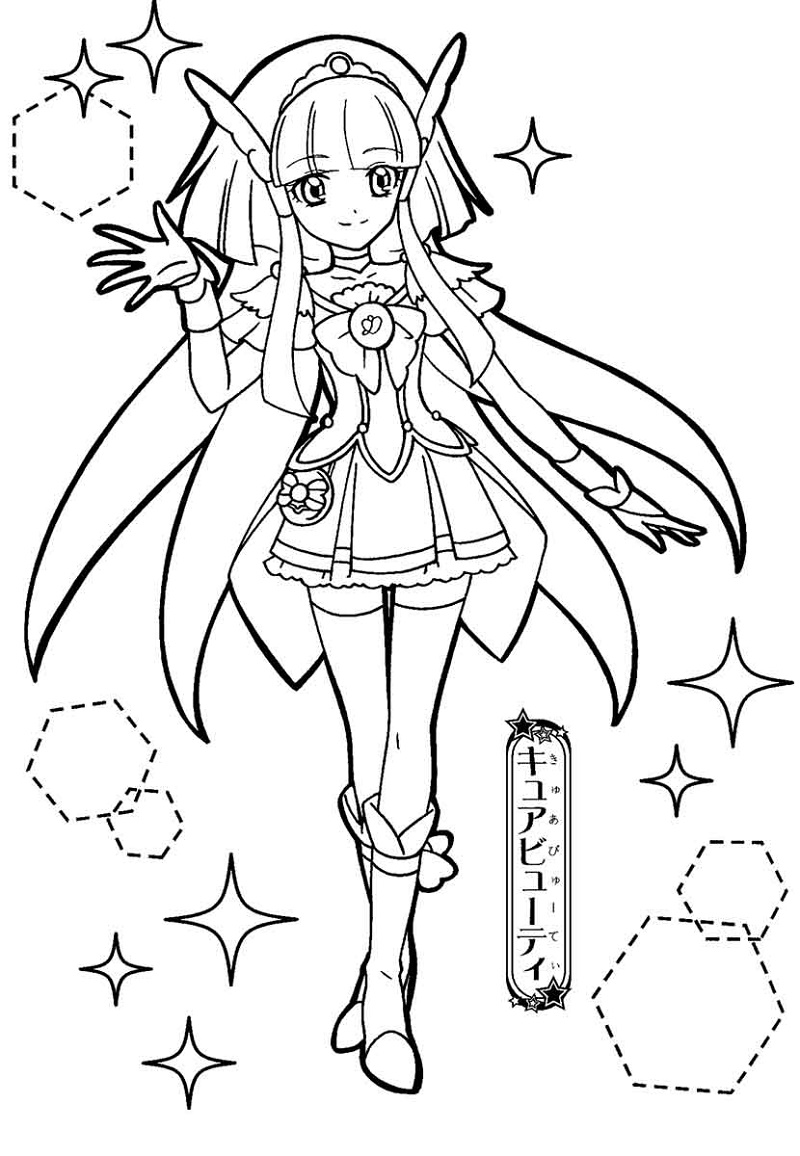 Glitter Force Coloring Pages Candy
