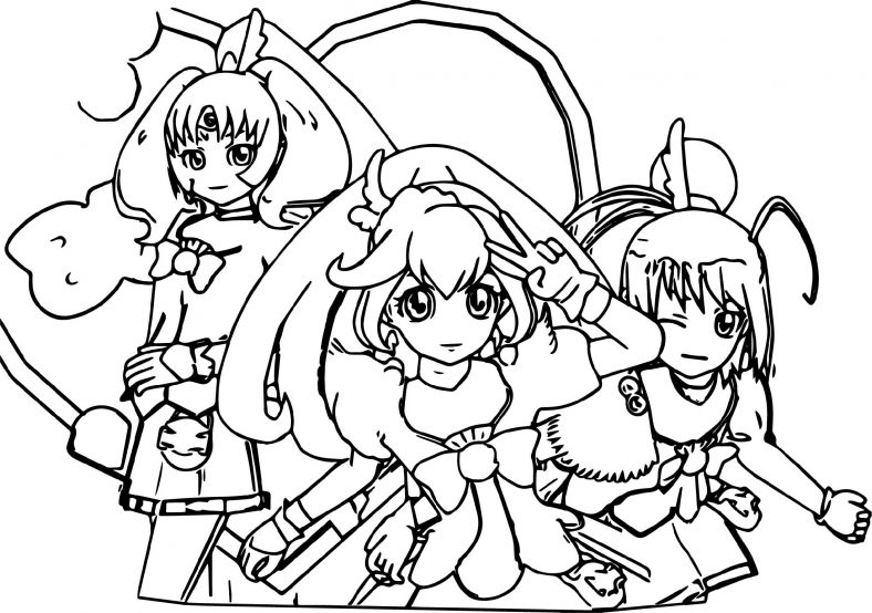 Glitter Force Coloring Pages Doki Doki