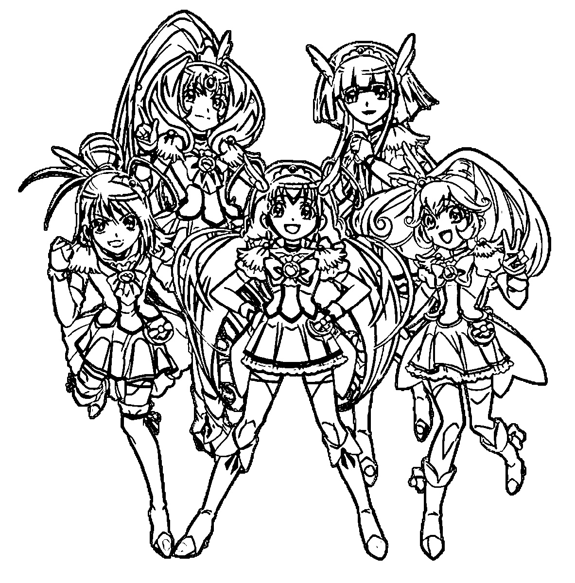 Glitter Force Coloring Pages For Kids