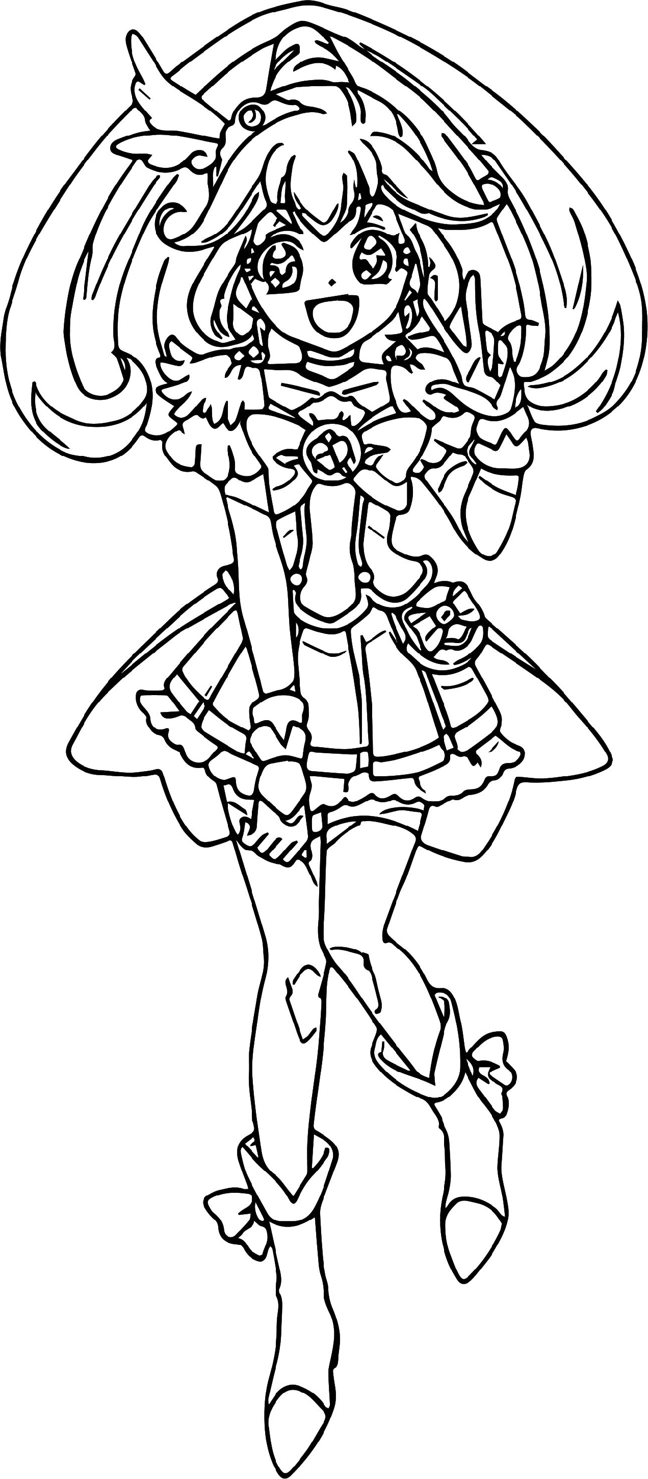 Glitter Force Coloring Pages Free