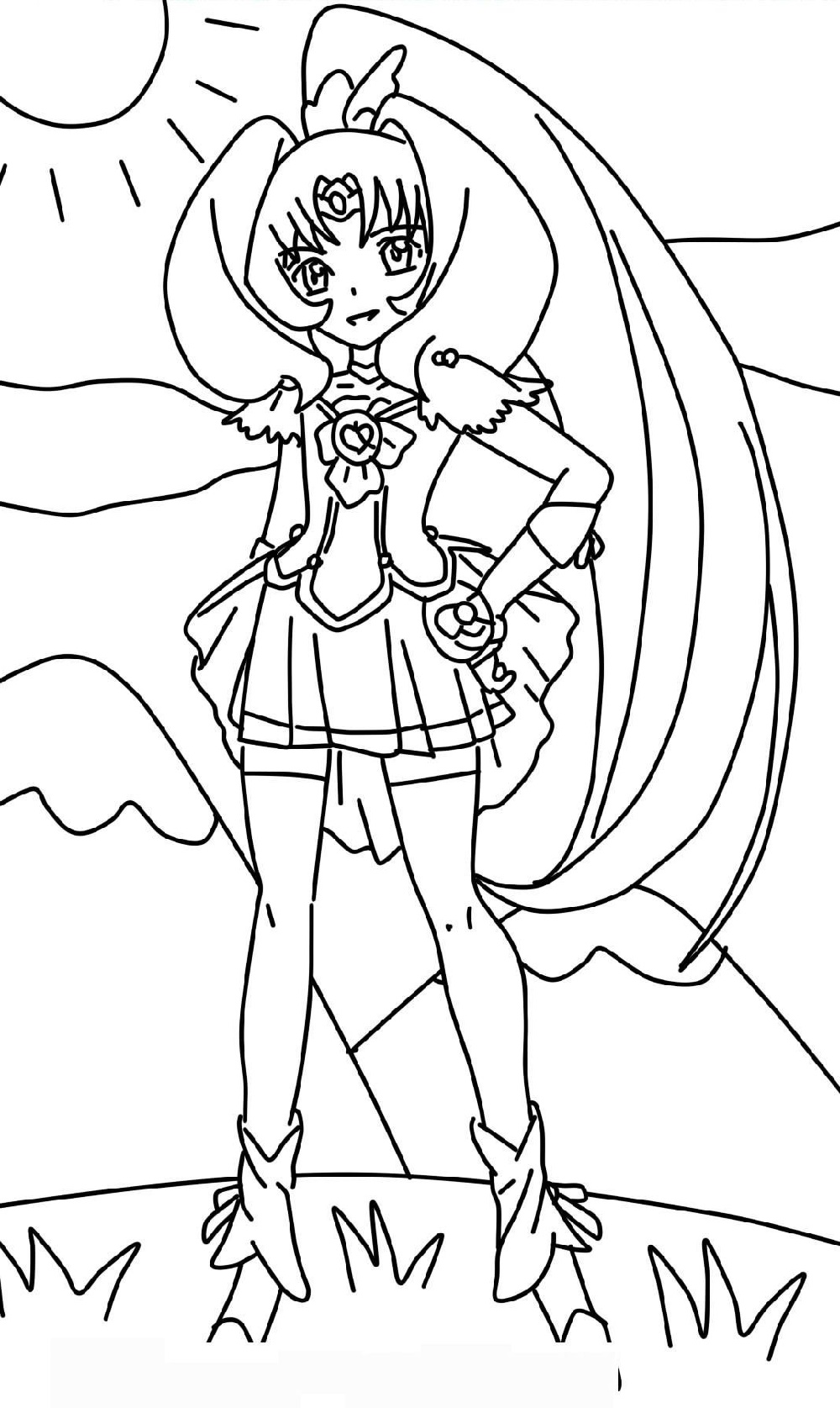 Glitter Force Coloring Pages Lily