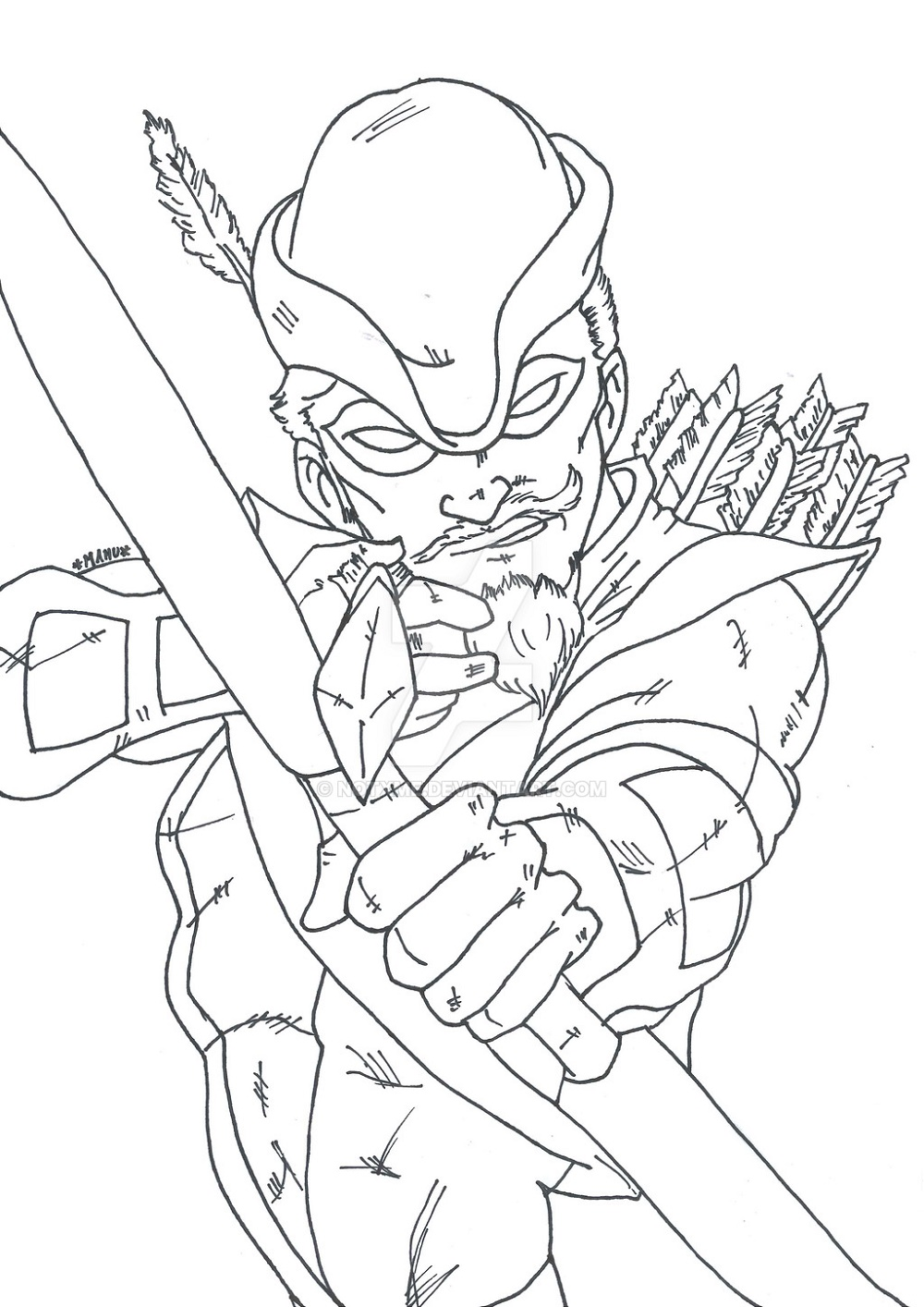 Green Arrow Coloring Pages Pictures