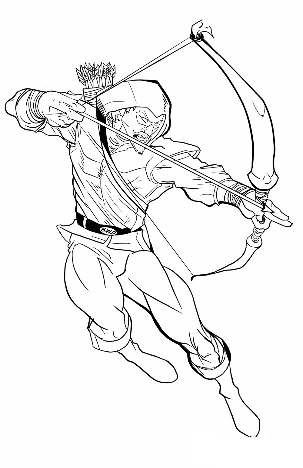 Green Arrow Coloring Pages Superhero