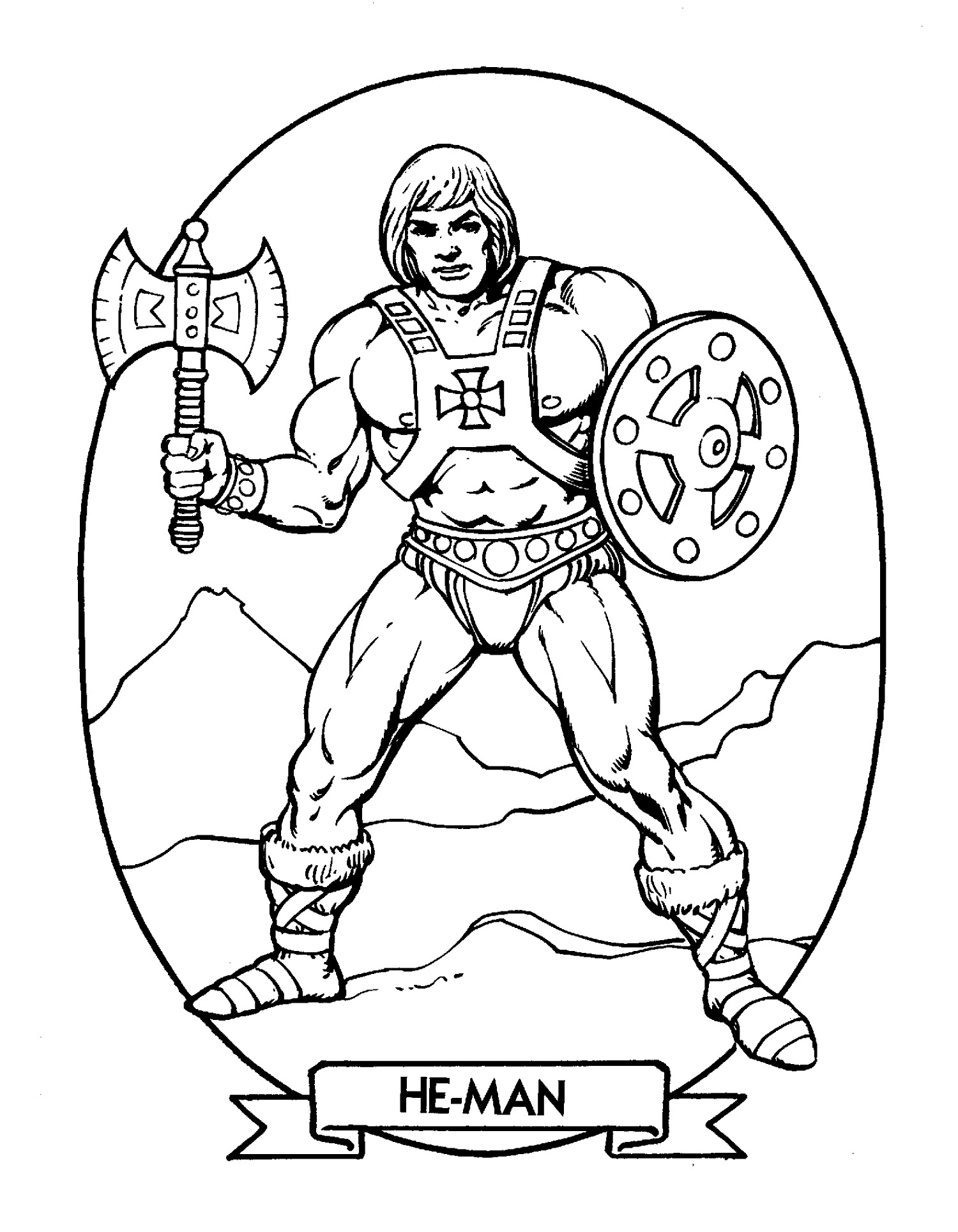 He Man Coloring Pages Master Of The Universe