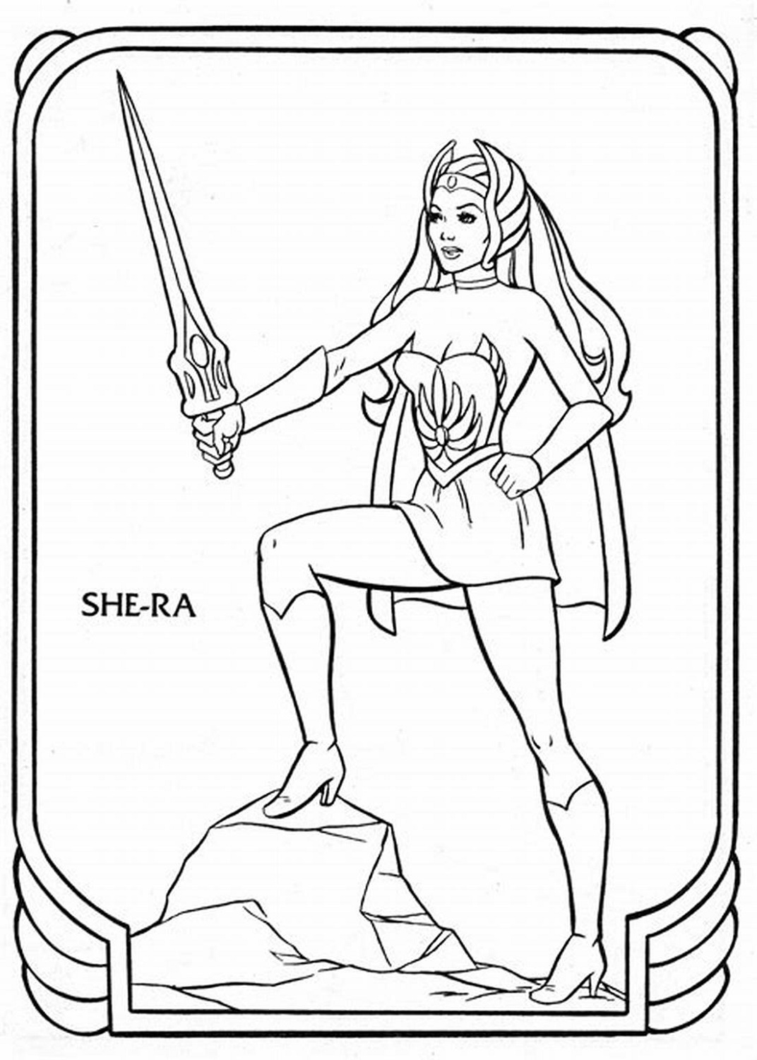 He Man Coloring Pages She-ra
