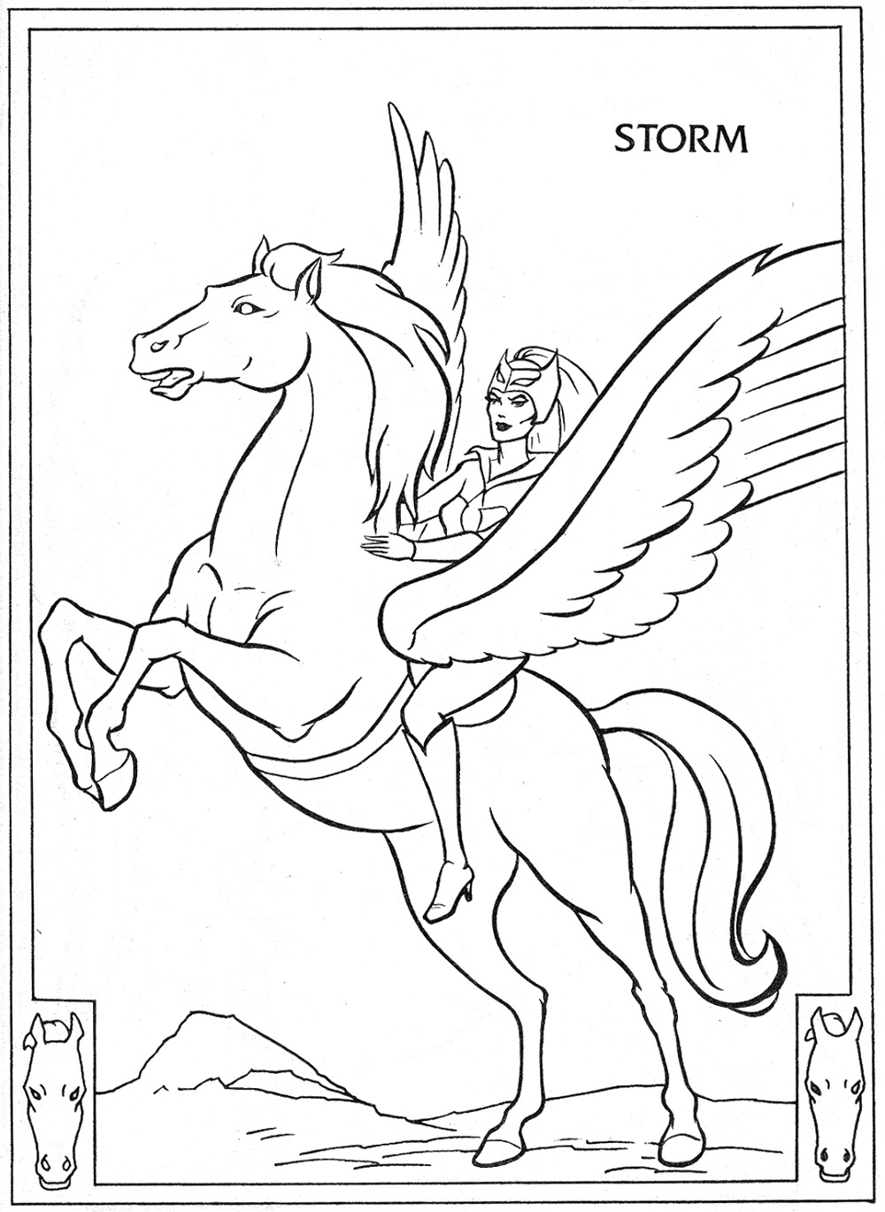 He Man Coloring Pages Storm