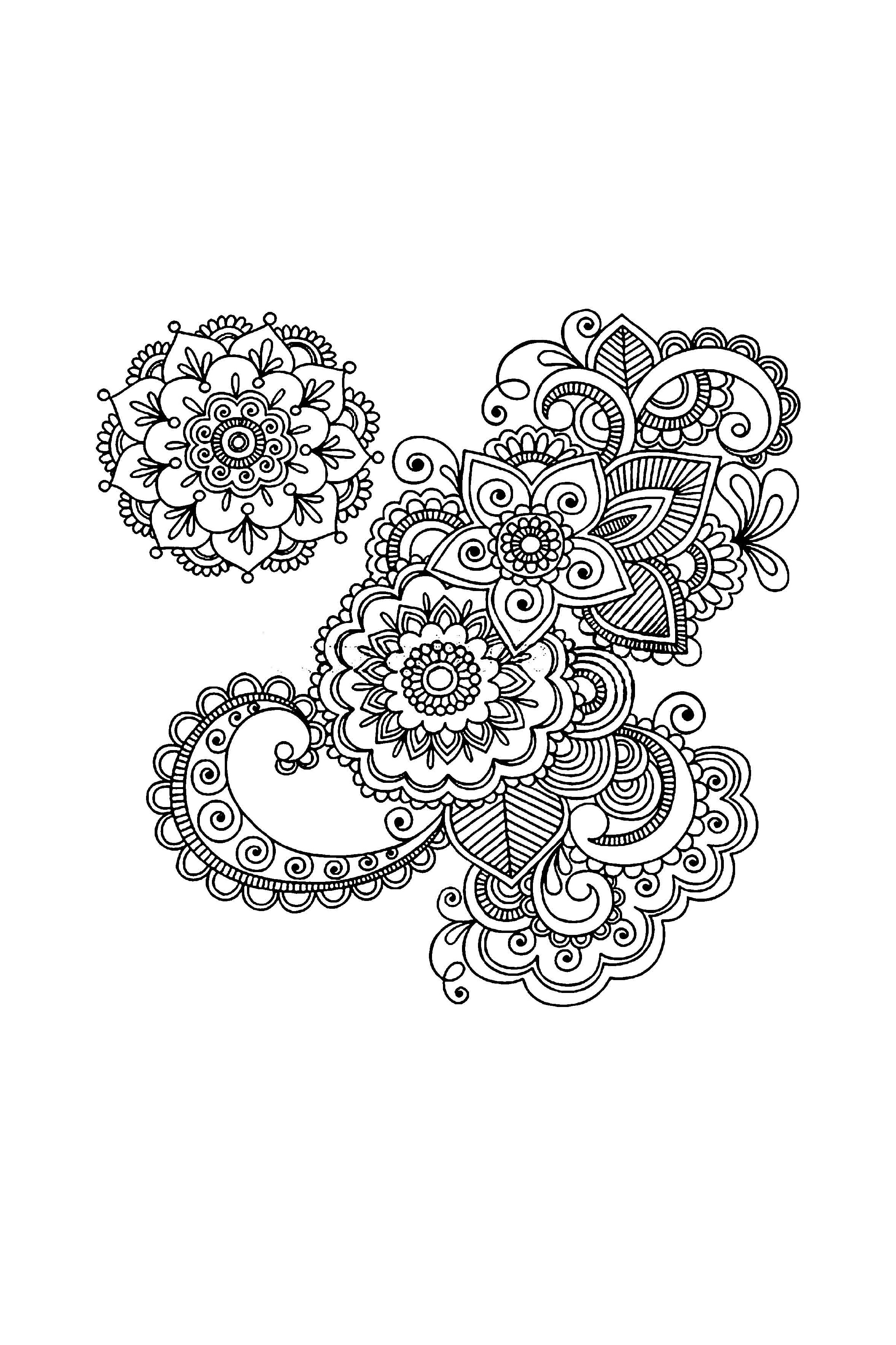 Henna Coloring Pages Abstract