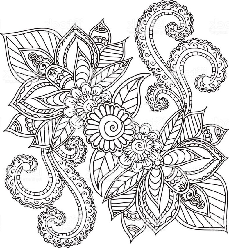 Henna Coloring Pages For Adults