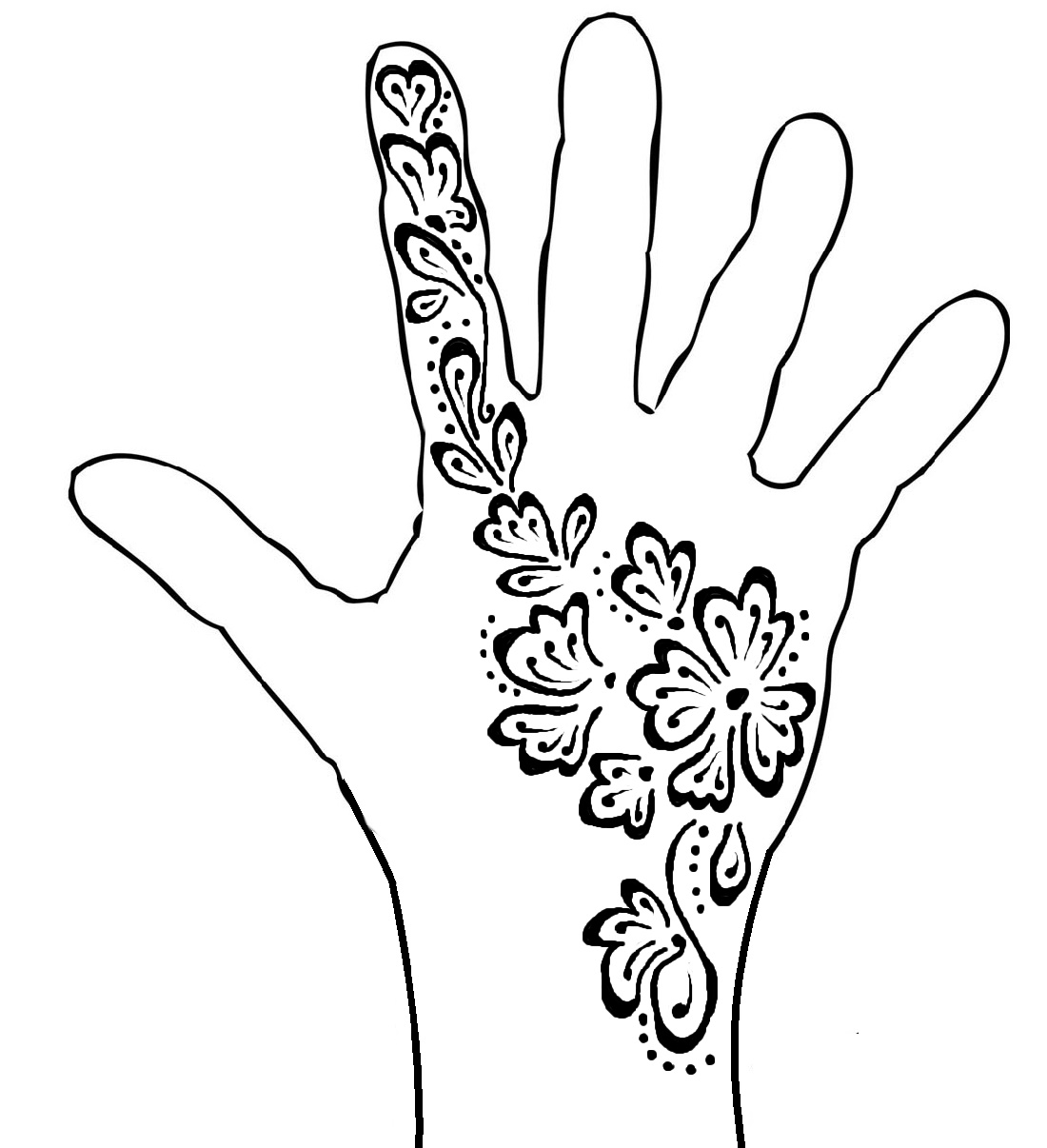 Henna Coloring Pages Hand