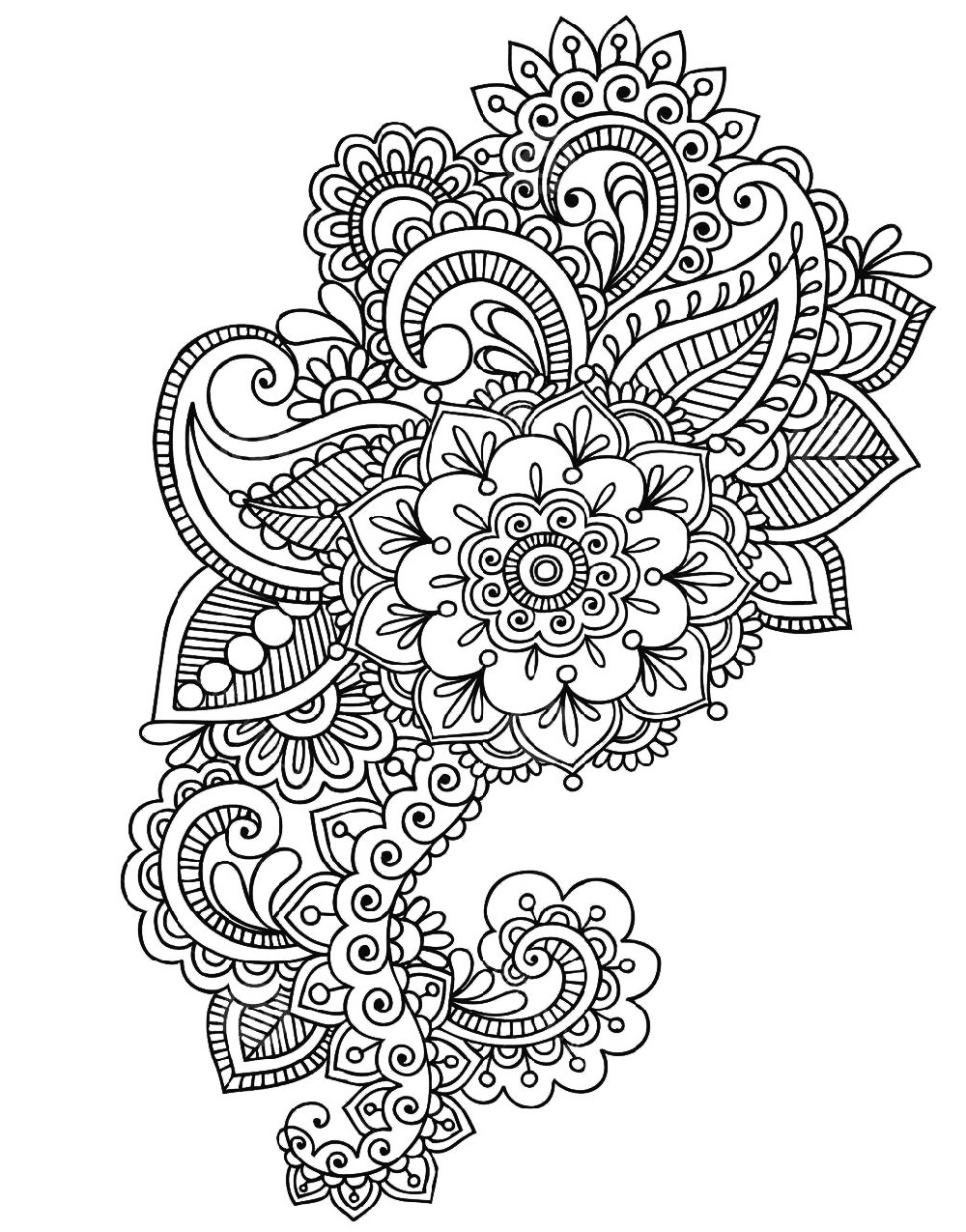 Henna Coloring Pages Printable