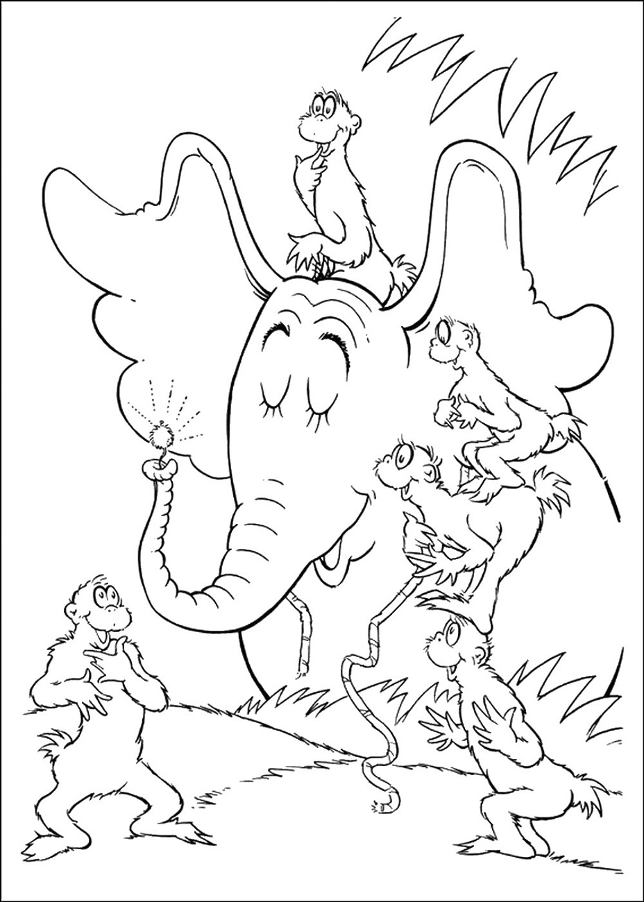 Horton Hears A Who Coloring Page Printable