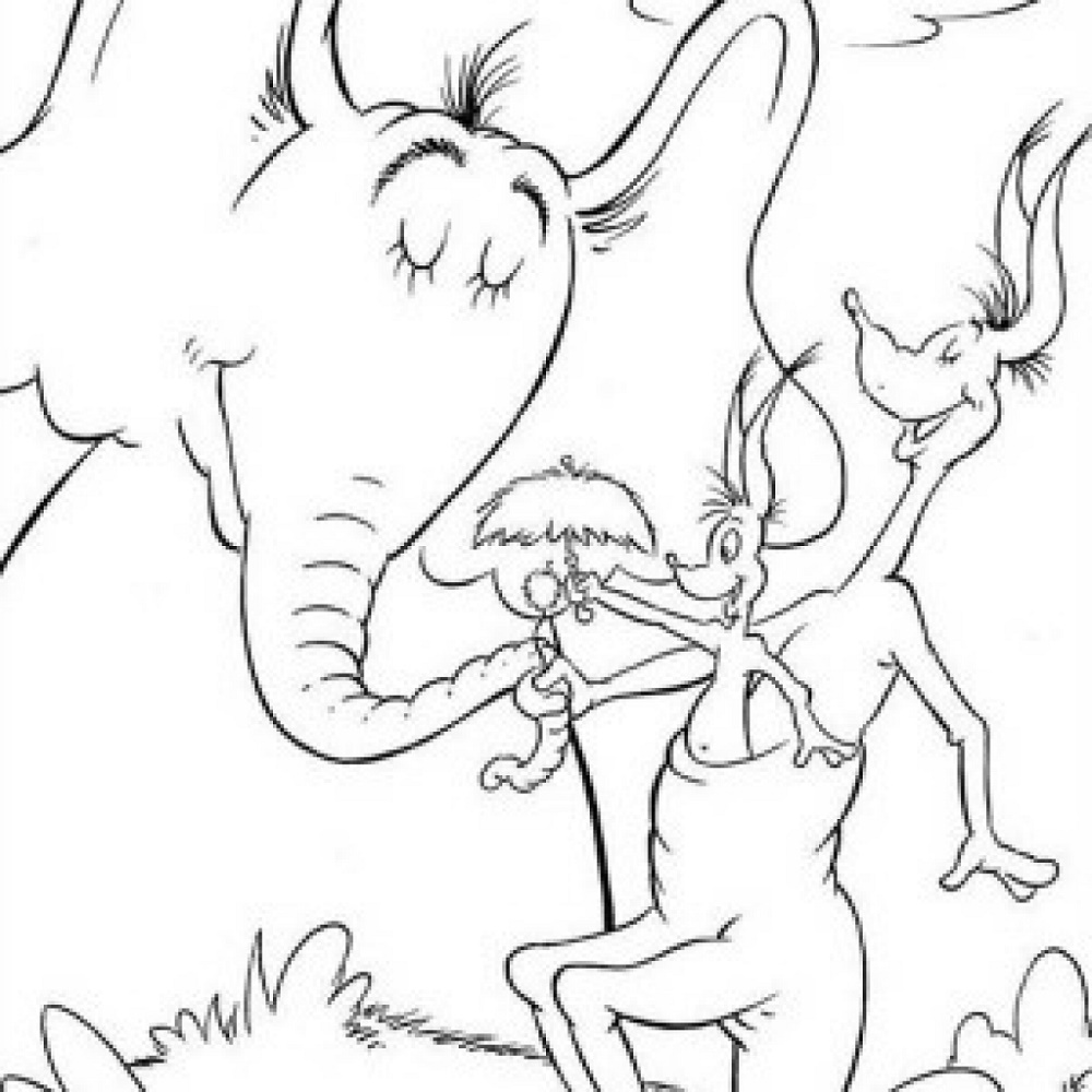 Horton Hears A Who Coloring Page To Print