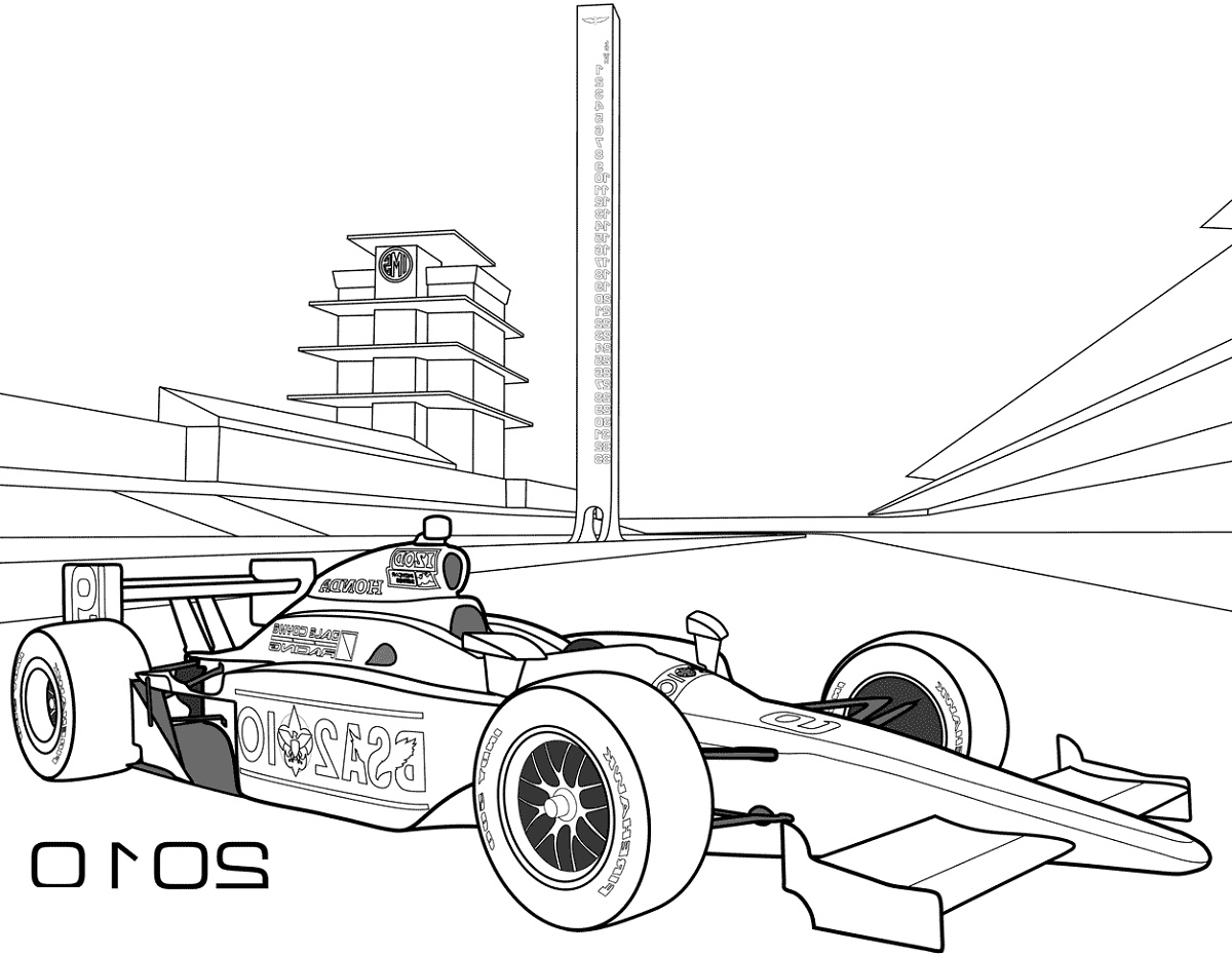 Indy Race Car Coloring Pages