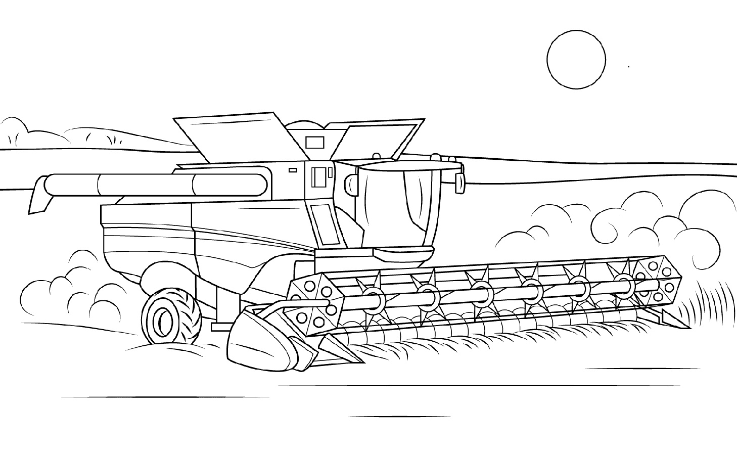 John Deere Coloring Pages Combine