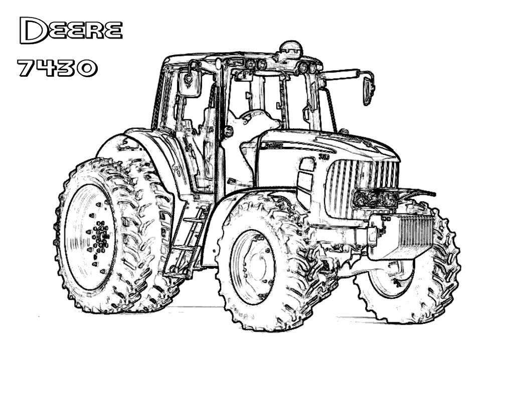 John Deere Coloring Pages Daring