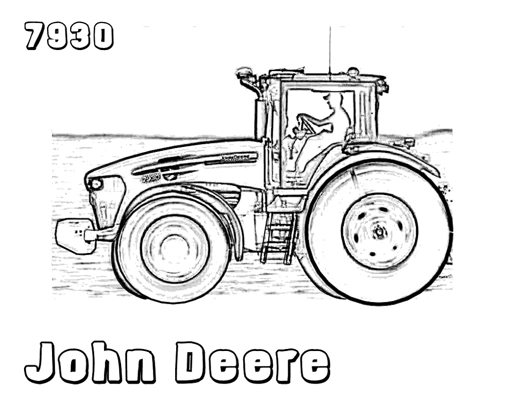 John Deere Coloring Pages Tractor