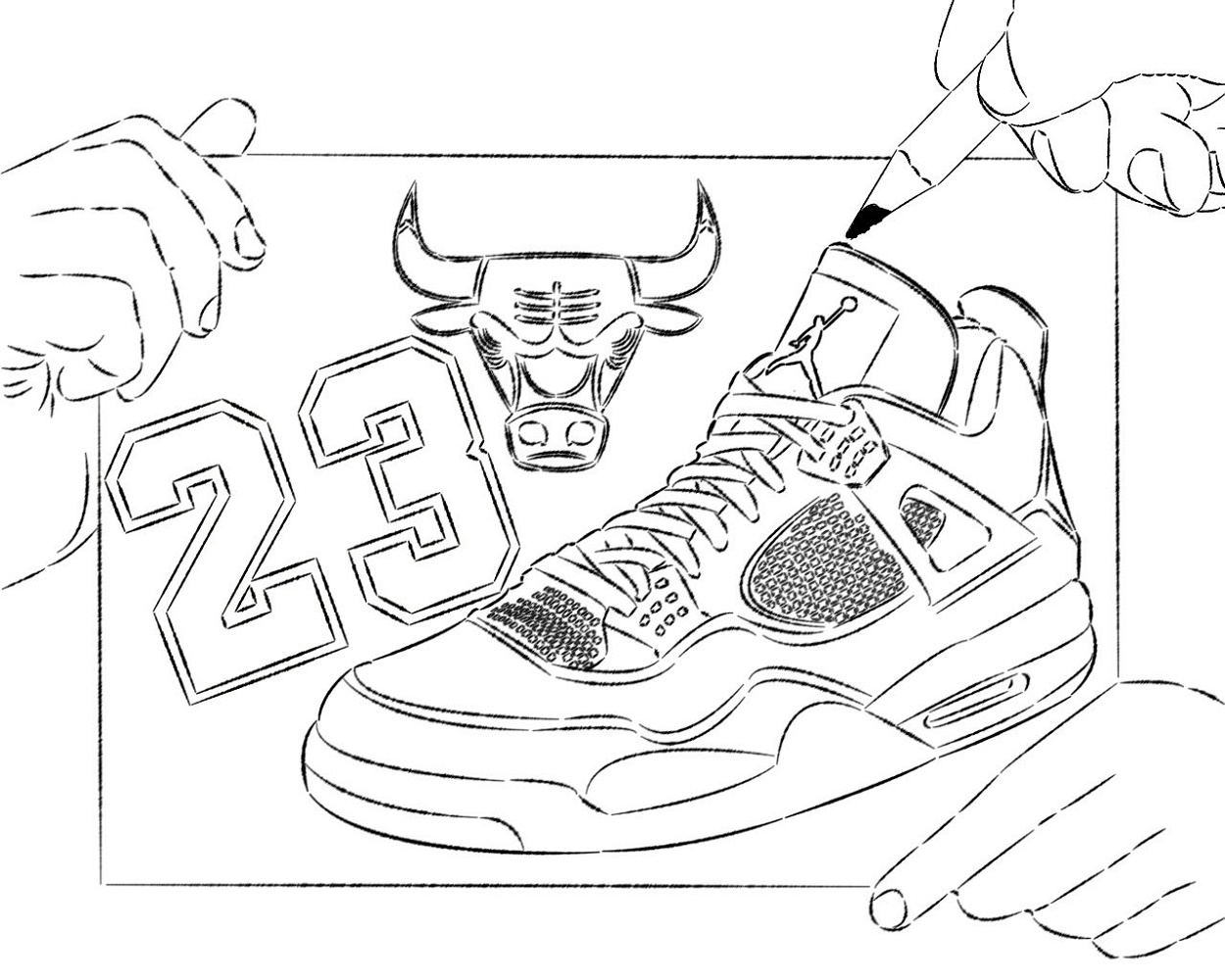 Jordan Coloring Book Basketball Shoes