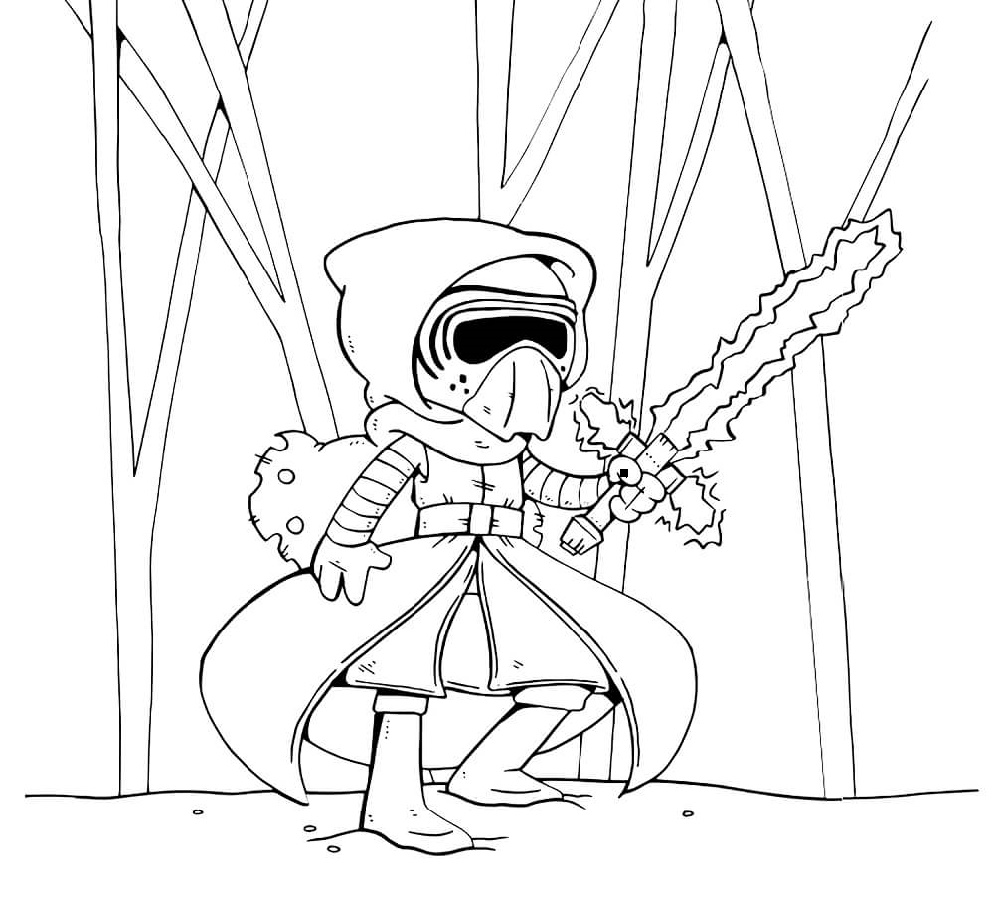 Kylo Ren Coloring Page For Kids