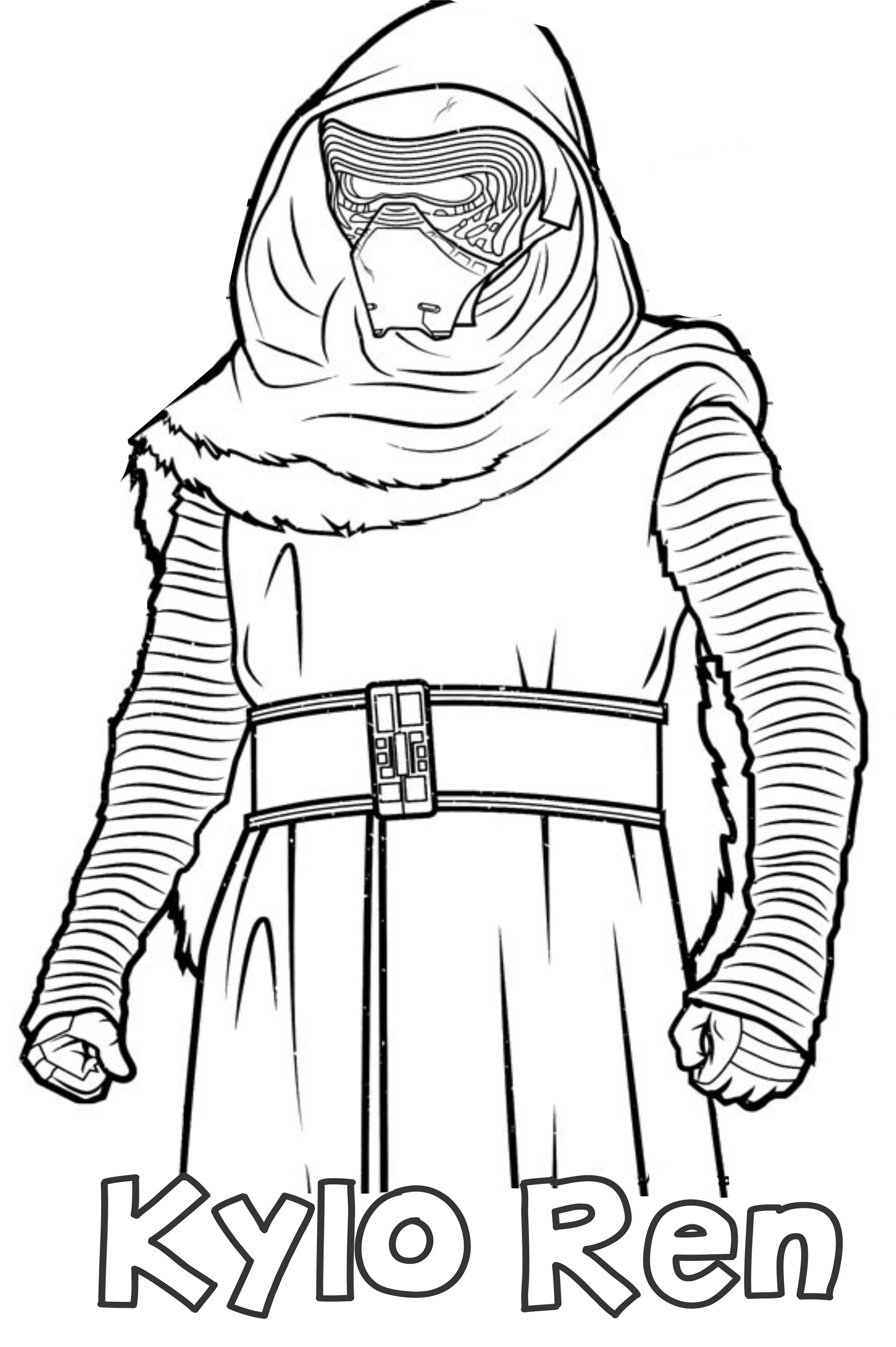 Kylo Ren Coloring Page Star Wars