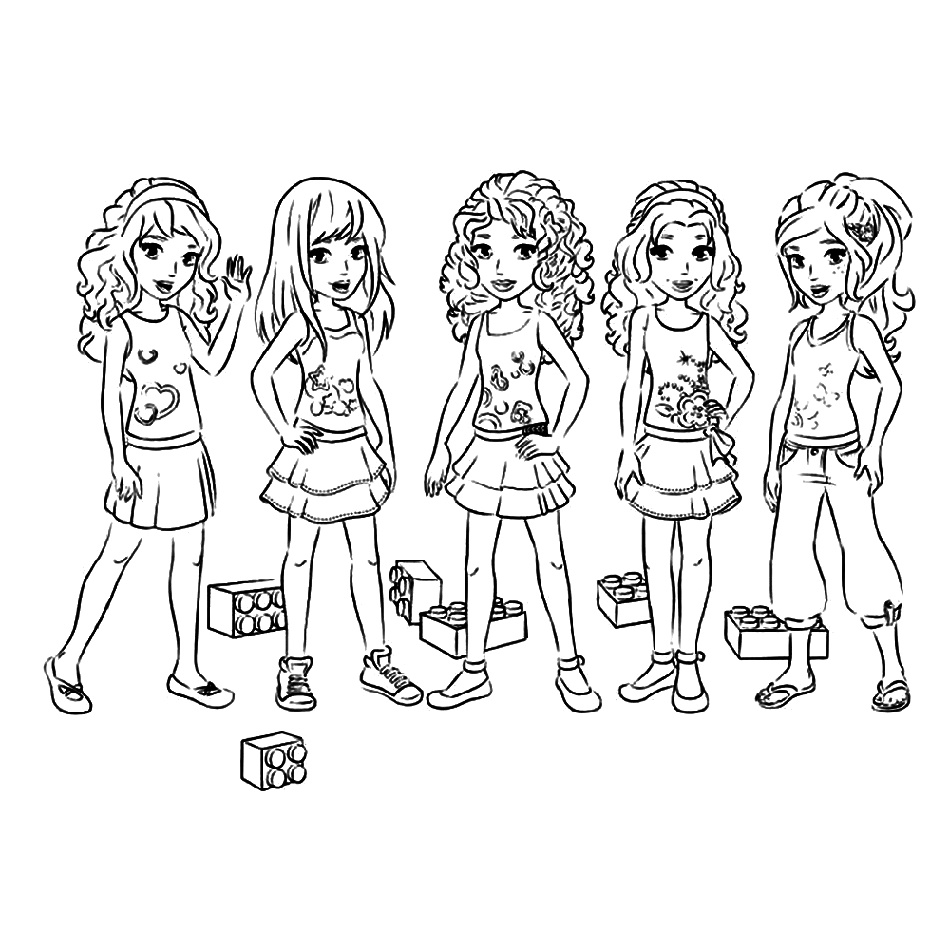 Lego Friends Coloring Pages Free