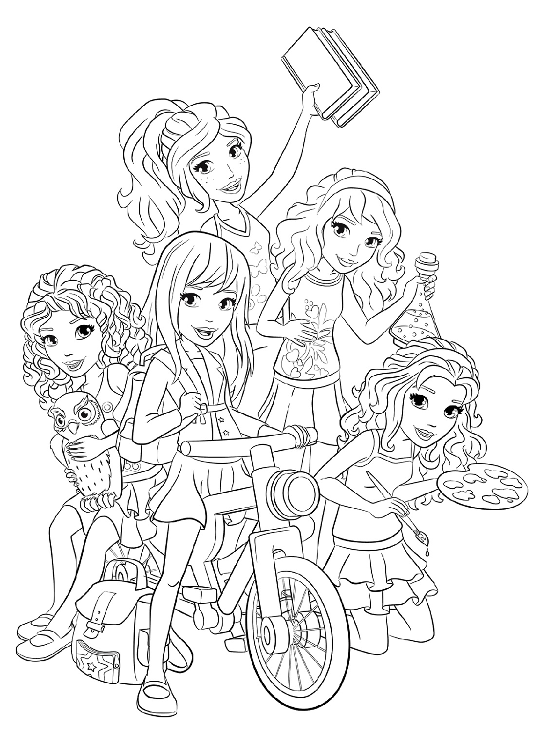 Lego Friends Coloring Pages Girls