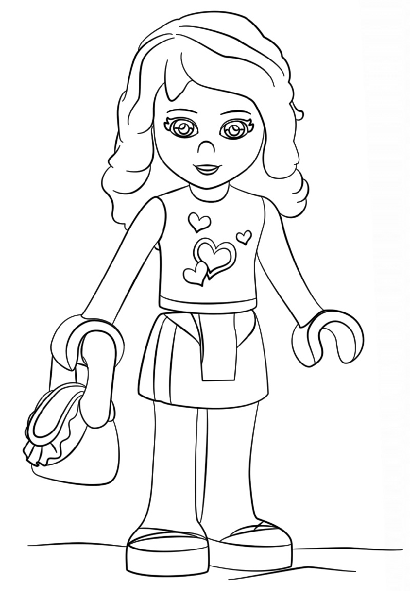 Lego Friends Coloring Pages Olivia