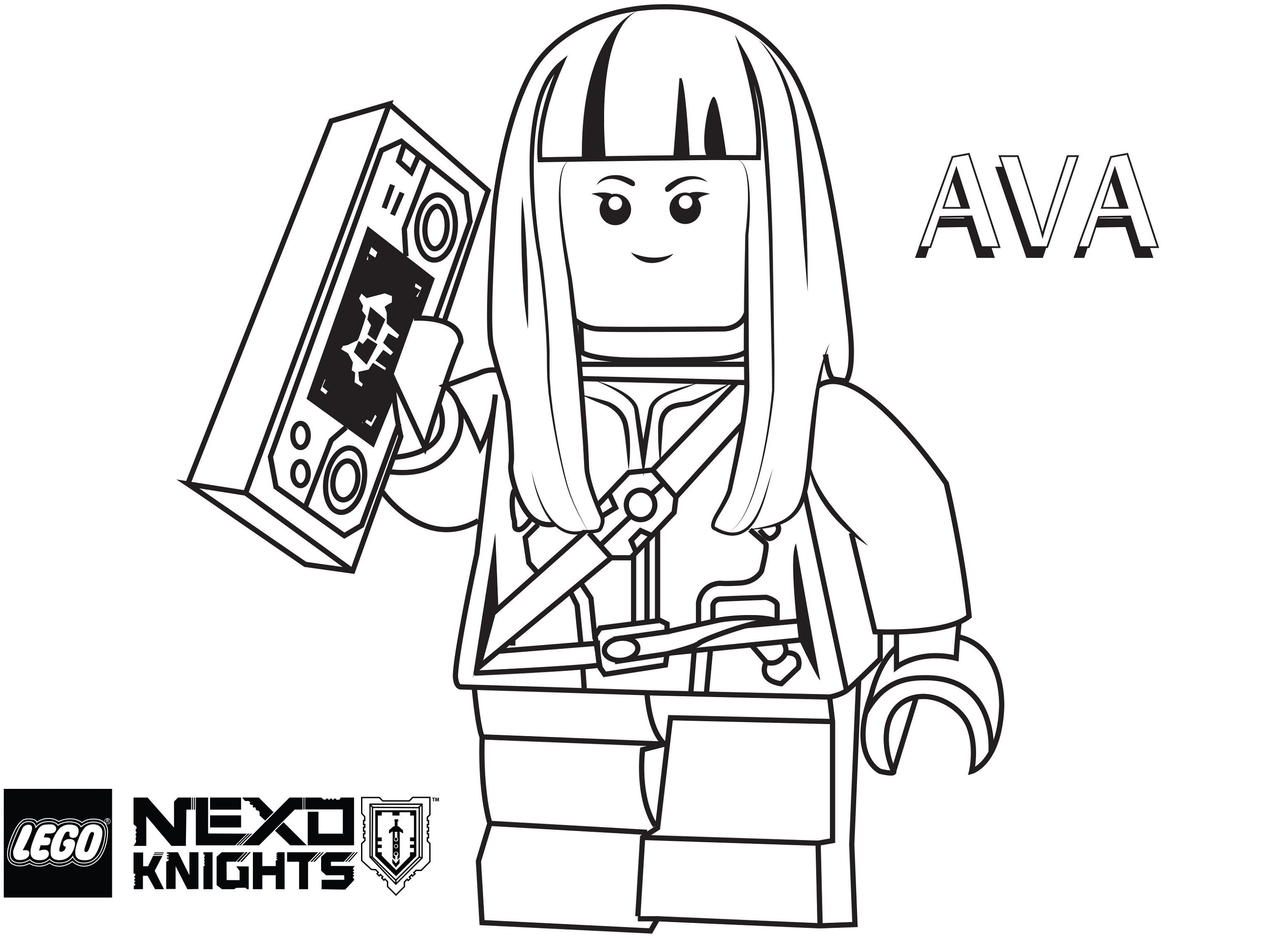 Lego Nexo Knights Coloring Pages Ava