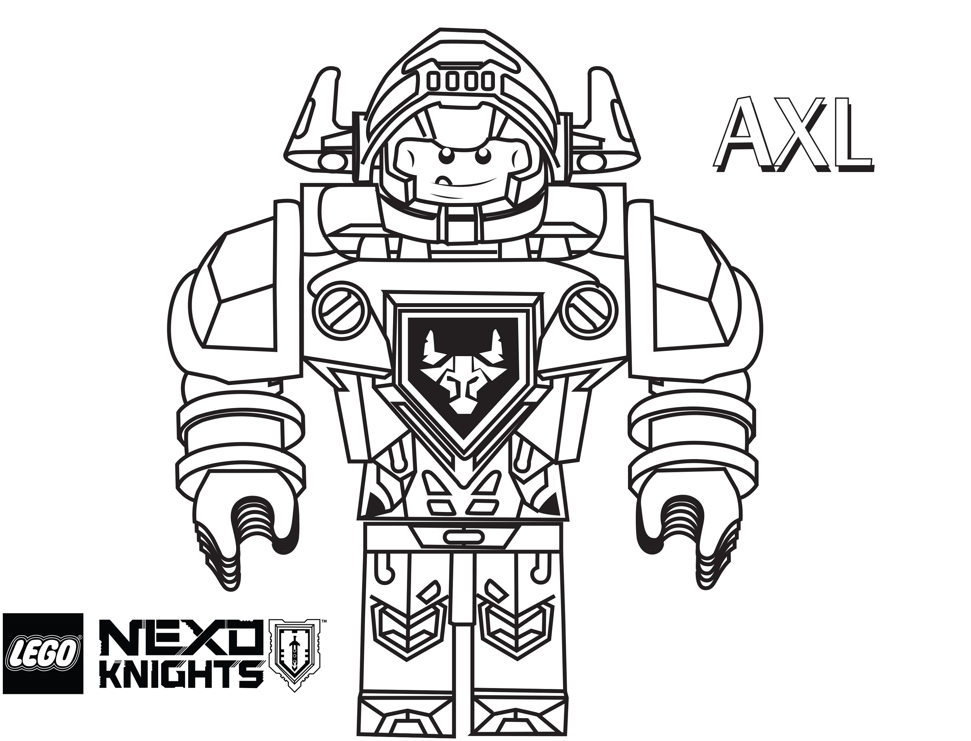 Lego Nexo Knights Coloring Pages Axl