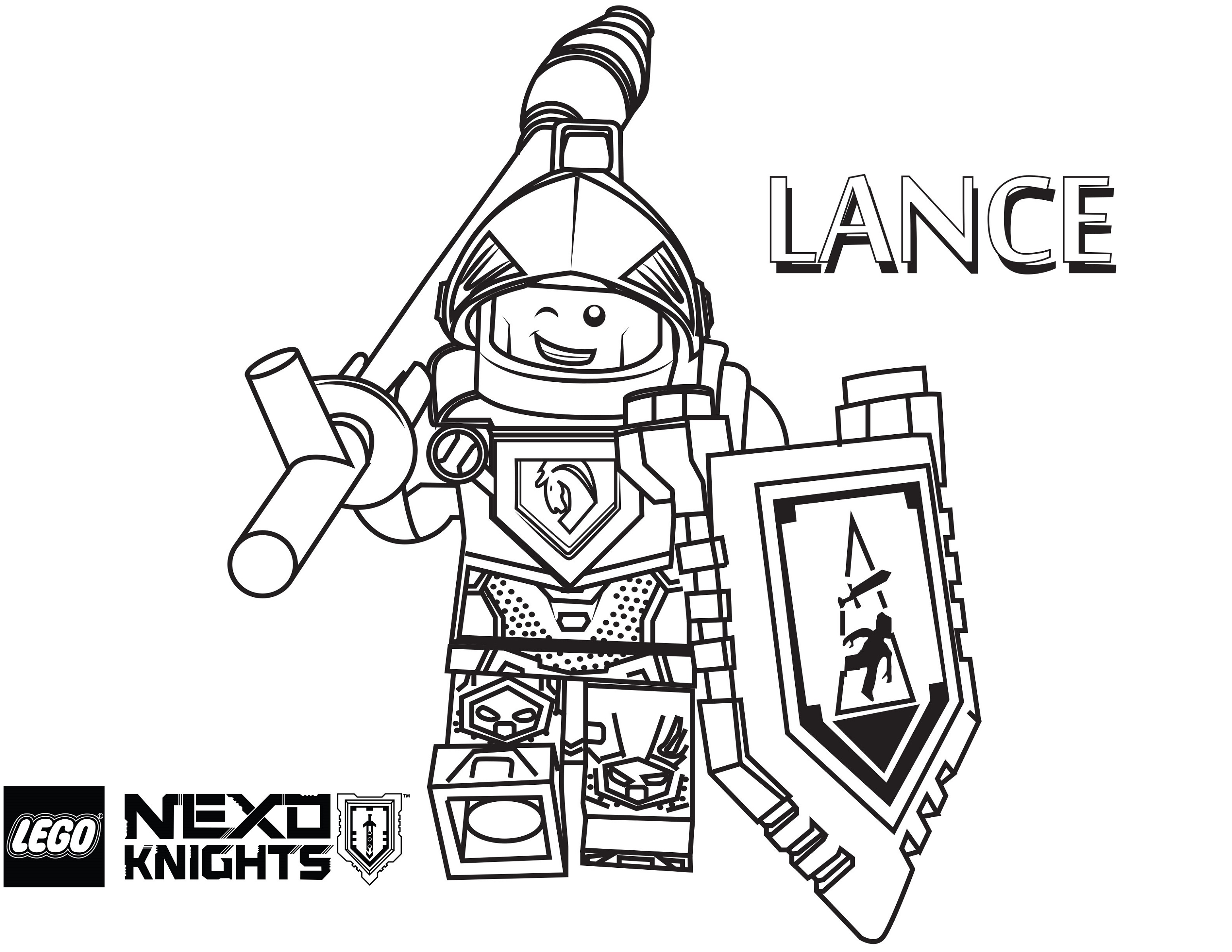 Lego Nexo Knights Coloring Pages Lance