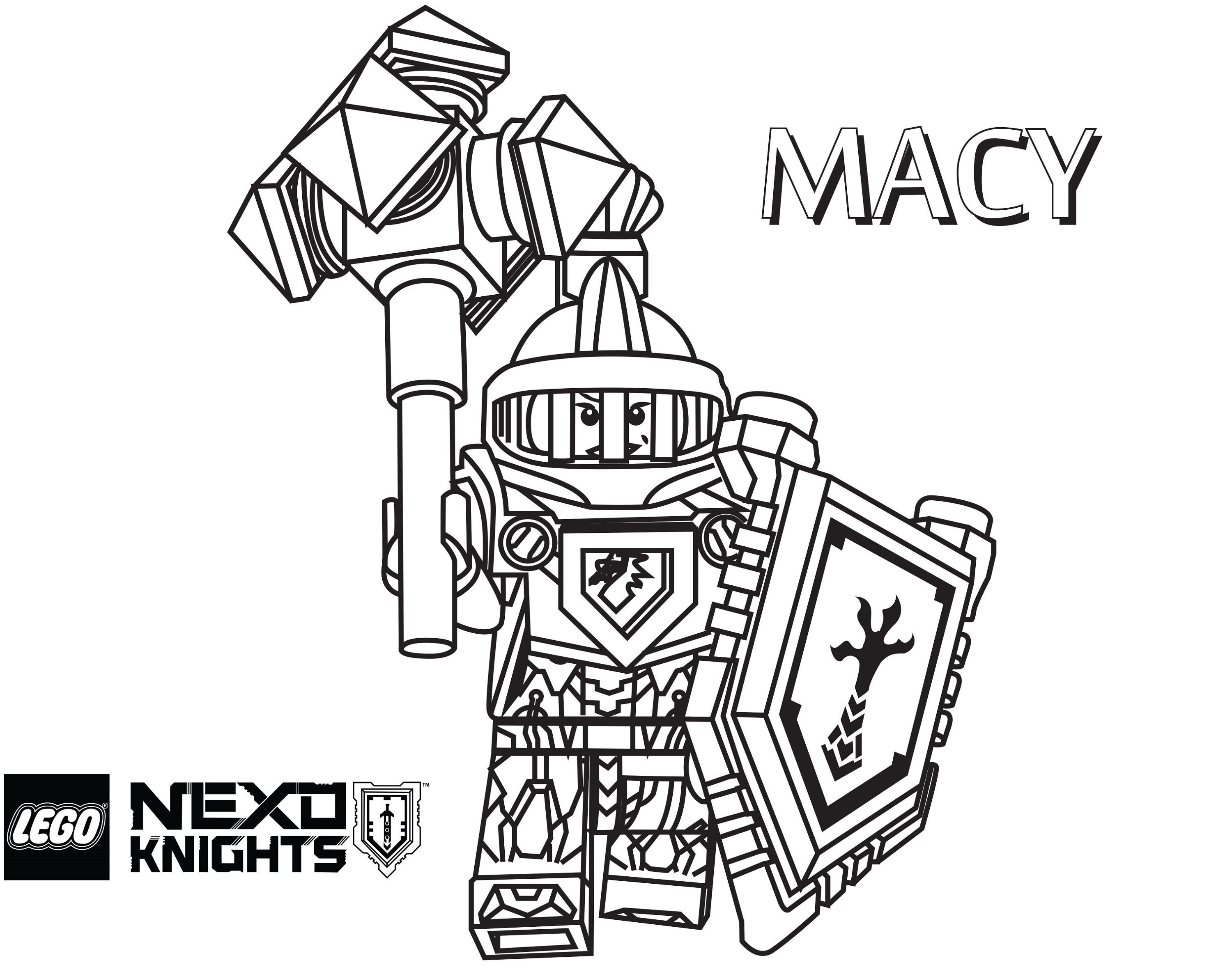Lego Nexo Knights Coloring Pages Macy