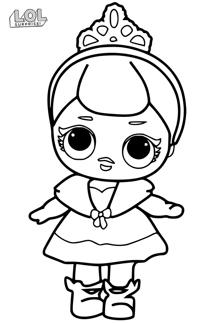 Lol Doll Coloring Pages Cute