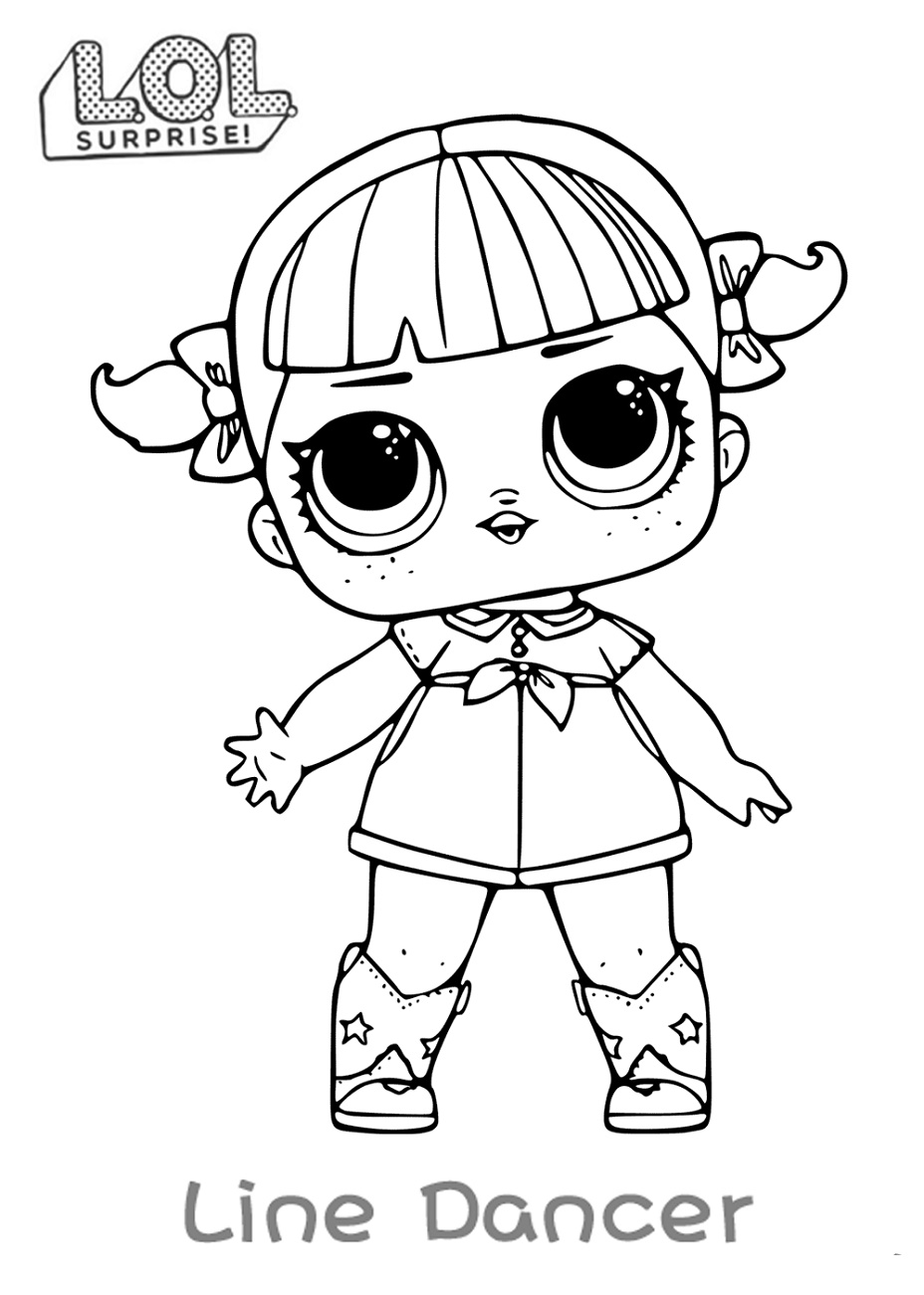 Lol Doll Coloring Pages Line Dancer
