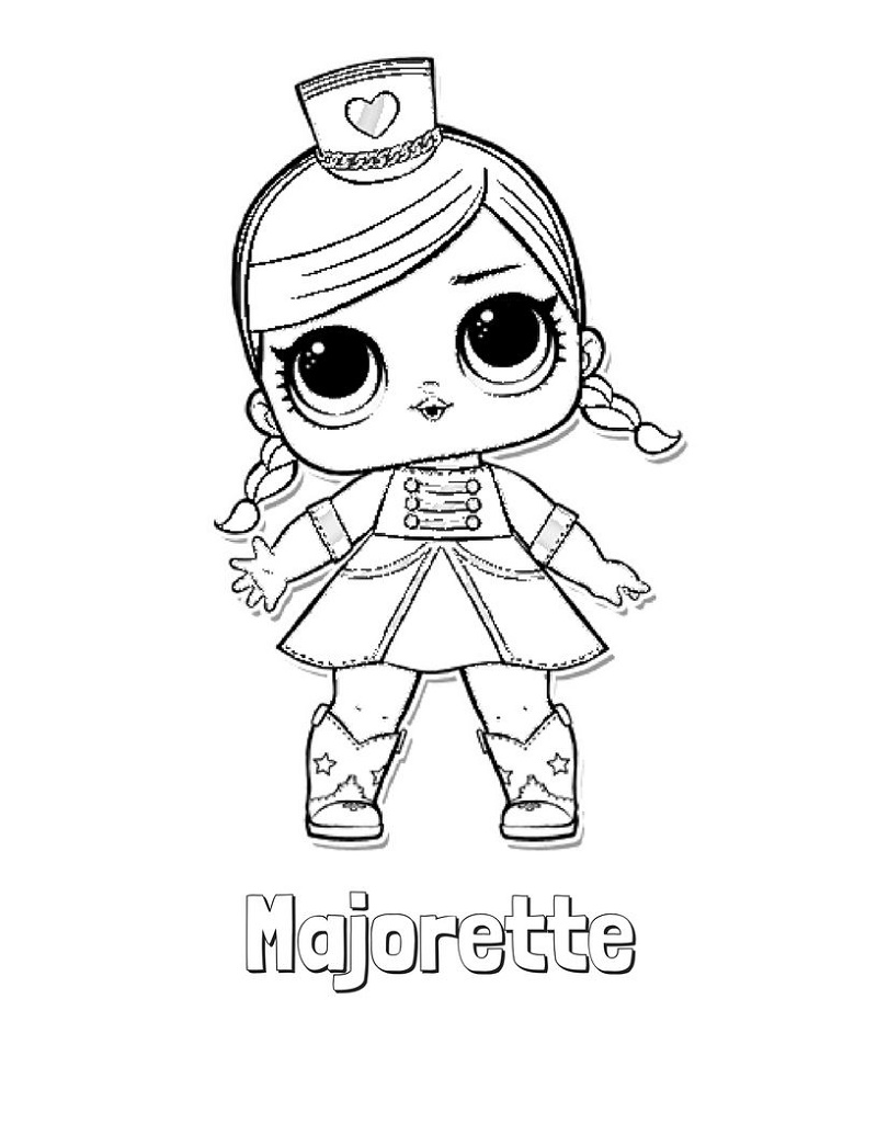 Lol Doll Coloring Pages Majorette