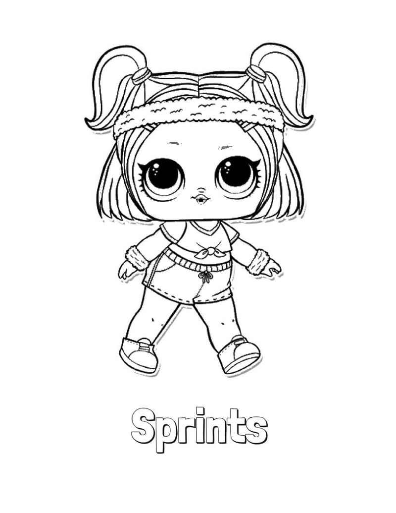 Lol Doll Coloring Pages Sprints