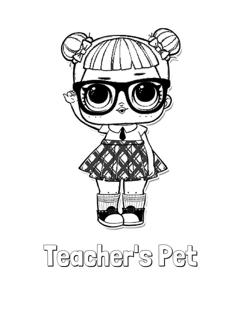 Lol Doll Coloring Pages Teachers Pet